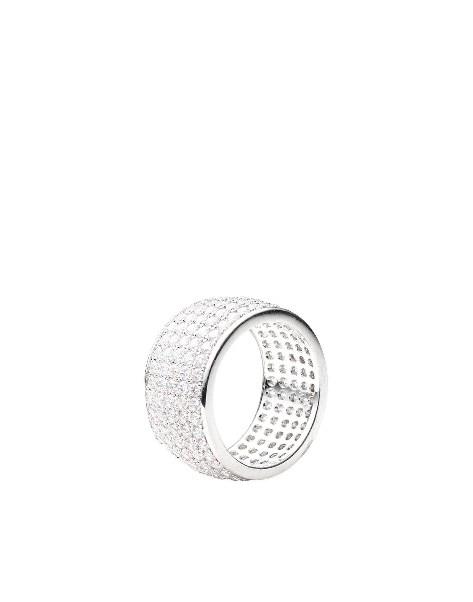 《セール開催中》LUV AJ レディース 指輪 シルバー 5 真鍮/ブラス / クリスタル PAVE CIGAR RING