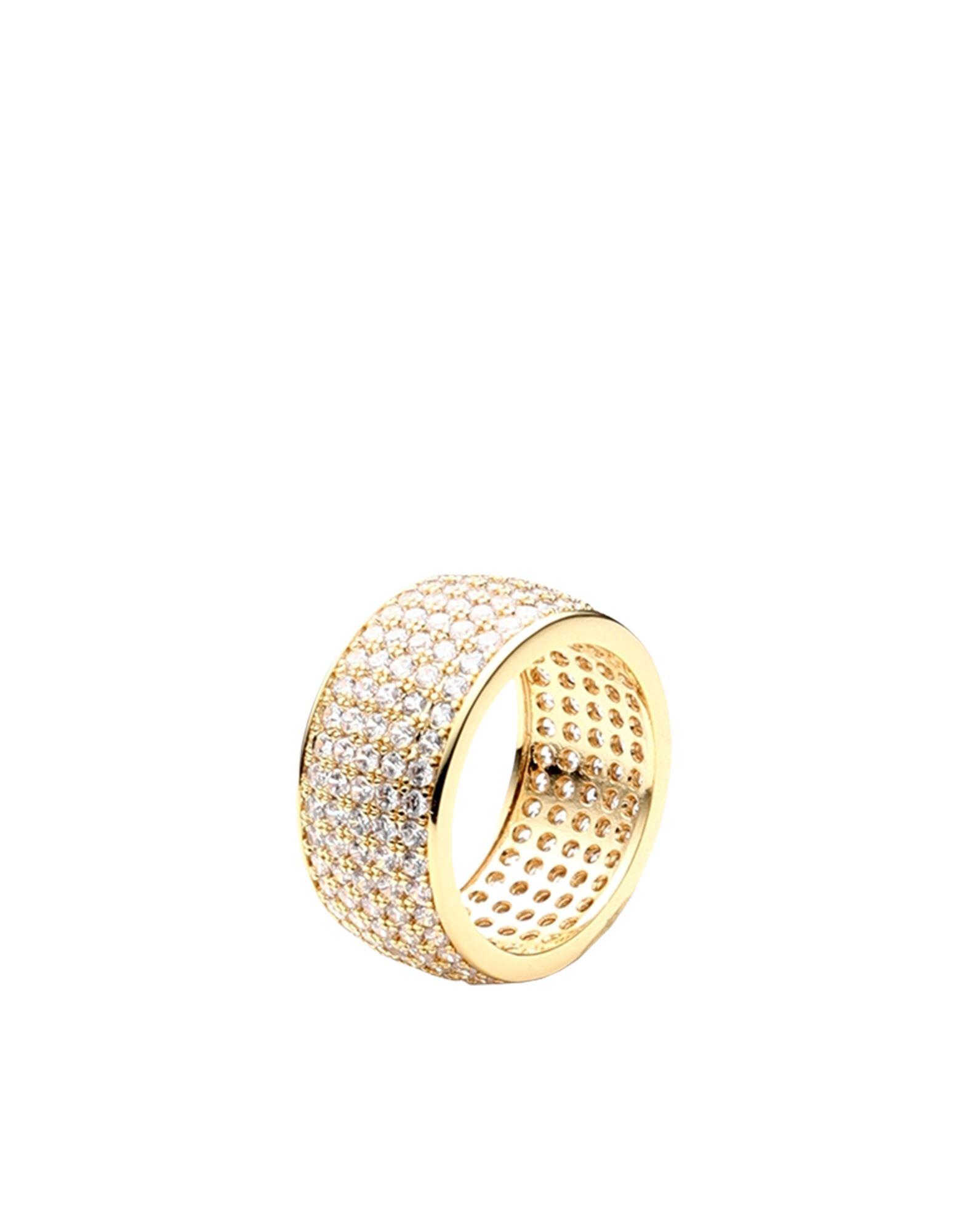 《セール開催中》LUV AJ レディース 指輪 ゴールド 5 真鍮/ブラス / クリスタル PAVE CIGAR RING
