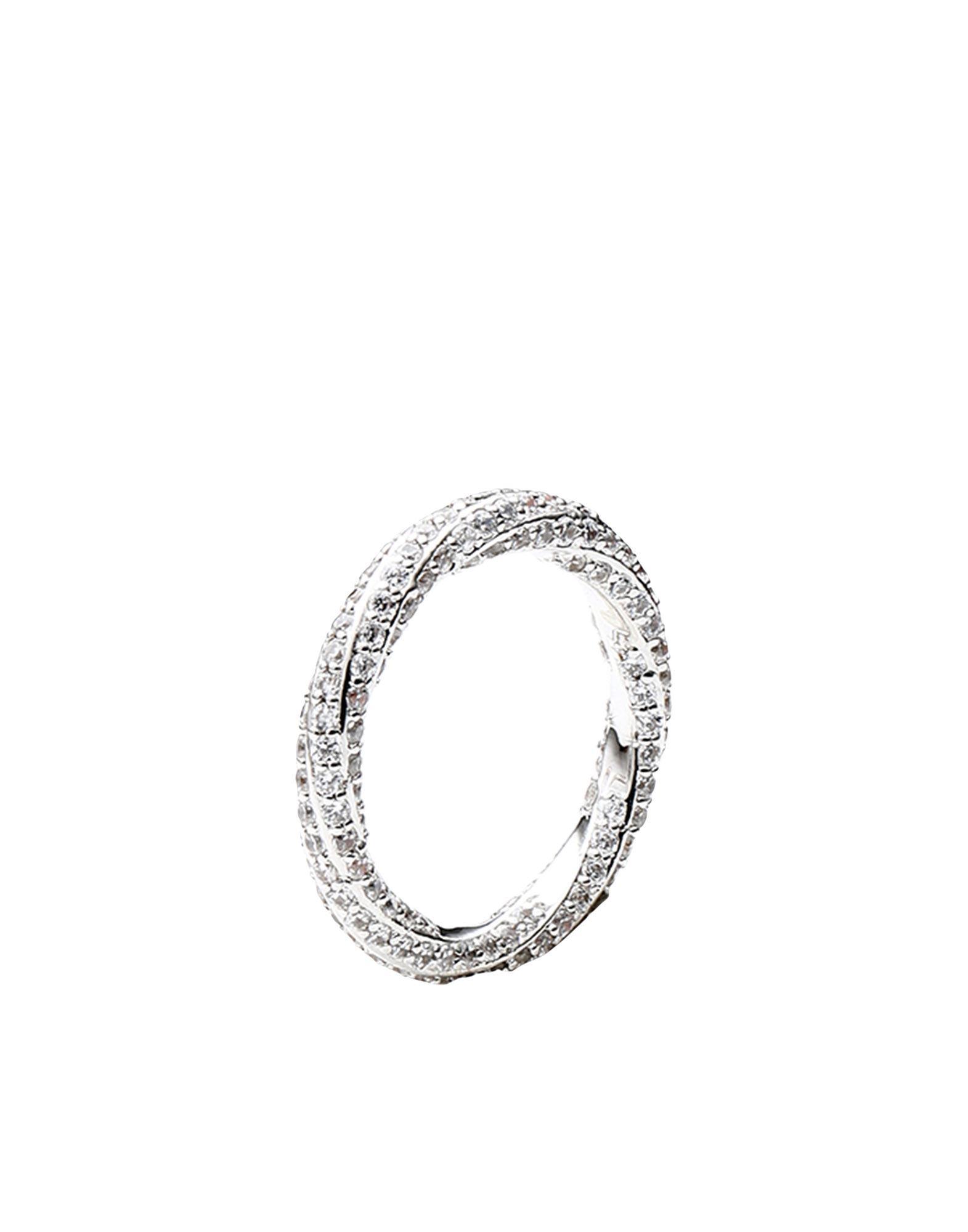 《セール開催中》LUV AJ レディース 指輪 シルバー 5 真鍮/ブラス / クリスタル PAVE TWISTED RING