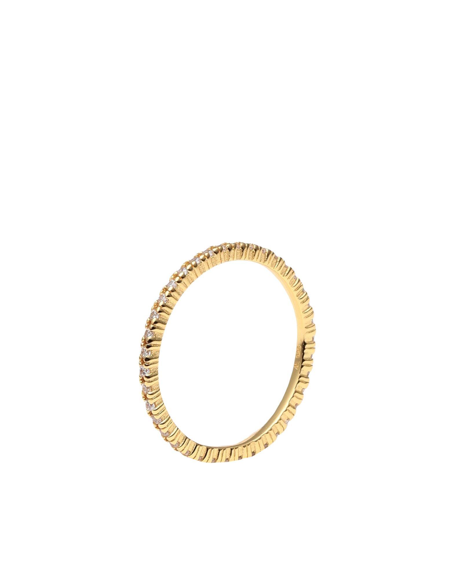 《セール開催中》P D PAOLA レディース 指輪 ゴールド 12 シルバー925/1000 AN WHITE ESSENTIAL