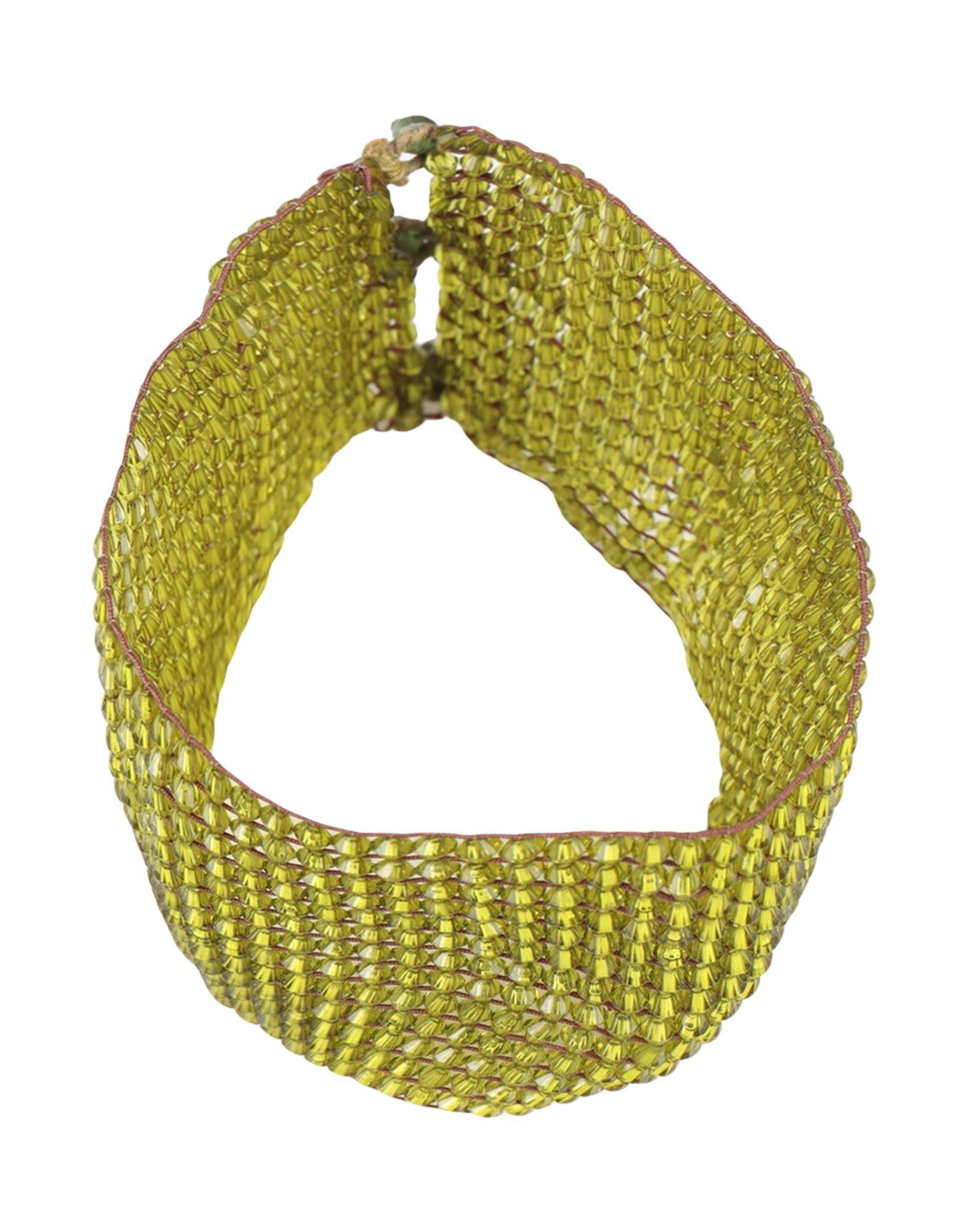 《セール開催中》MAL?PARMI レディース ネックレス グリーン 指定外繊維(その他伸縮性繊維)