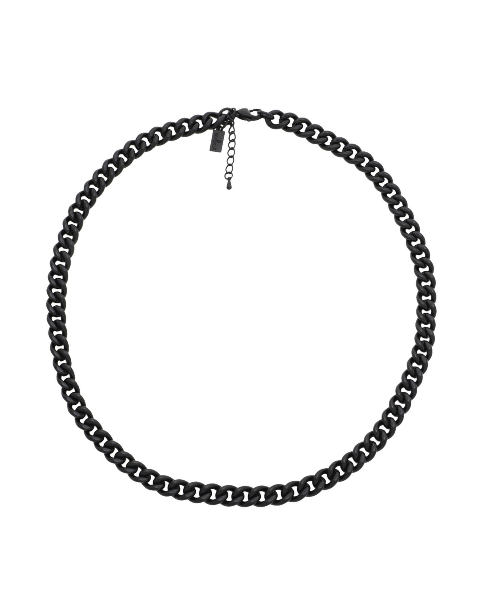 《セール開催中》DETTAGLI メンズ ネックレス ブラック スチール 100%