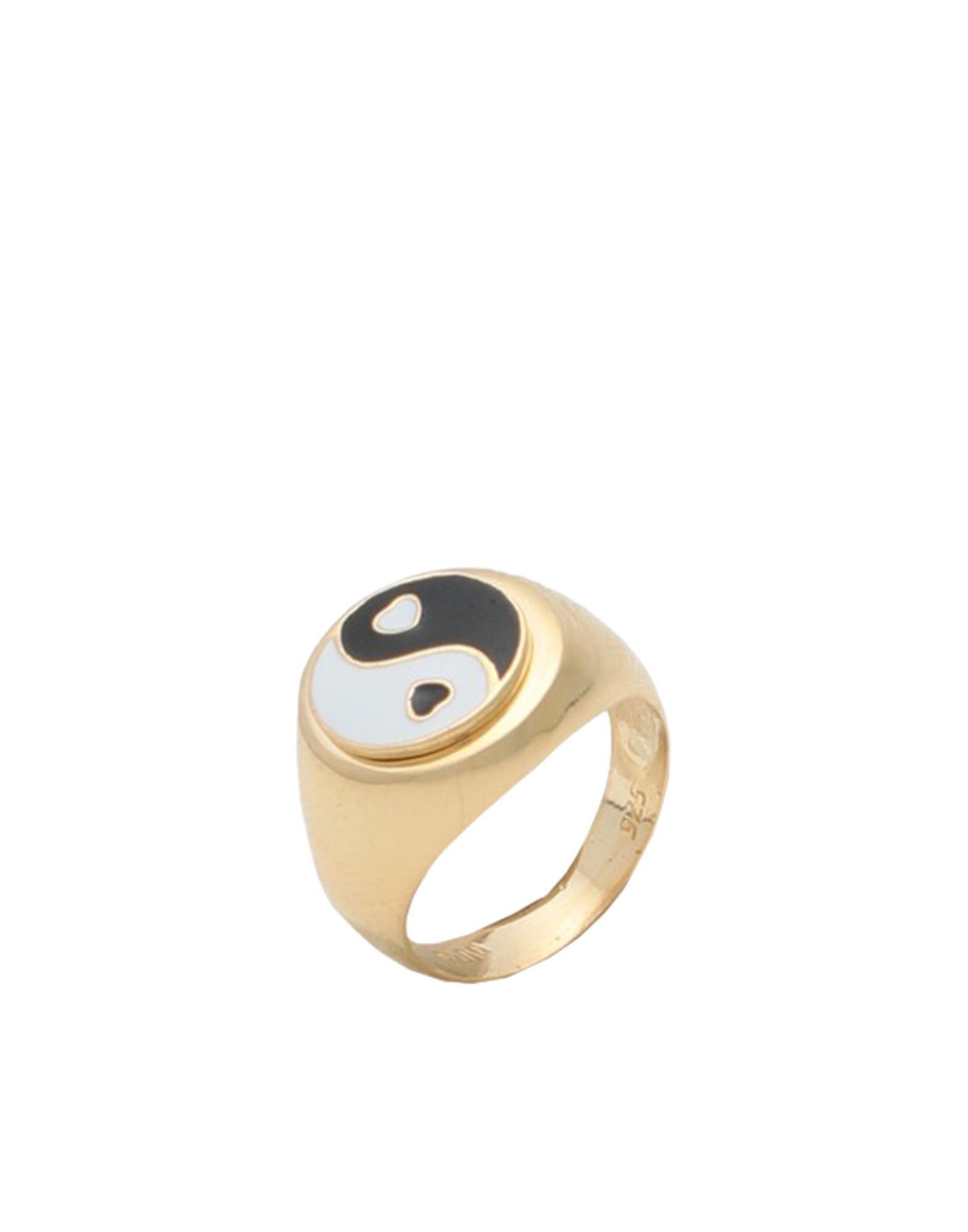 《セール開催中》WILHELMINA GARCIA レディース 指輪 ゴールド 46 銀 / 18金メッキ YIN/YANG RING