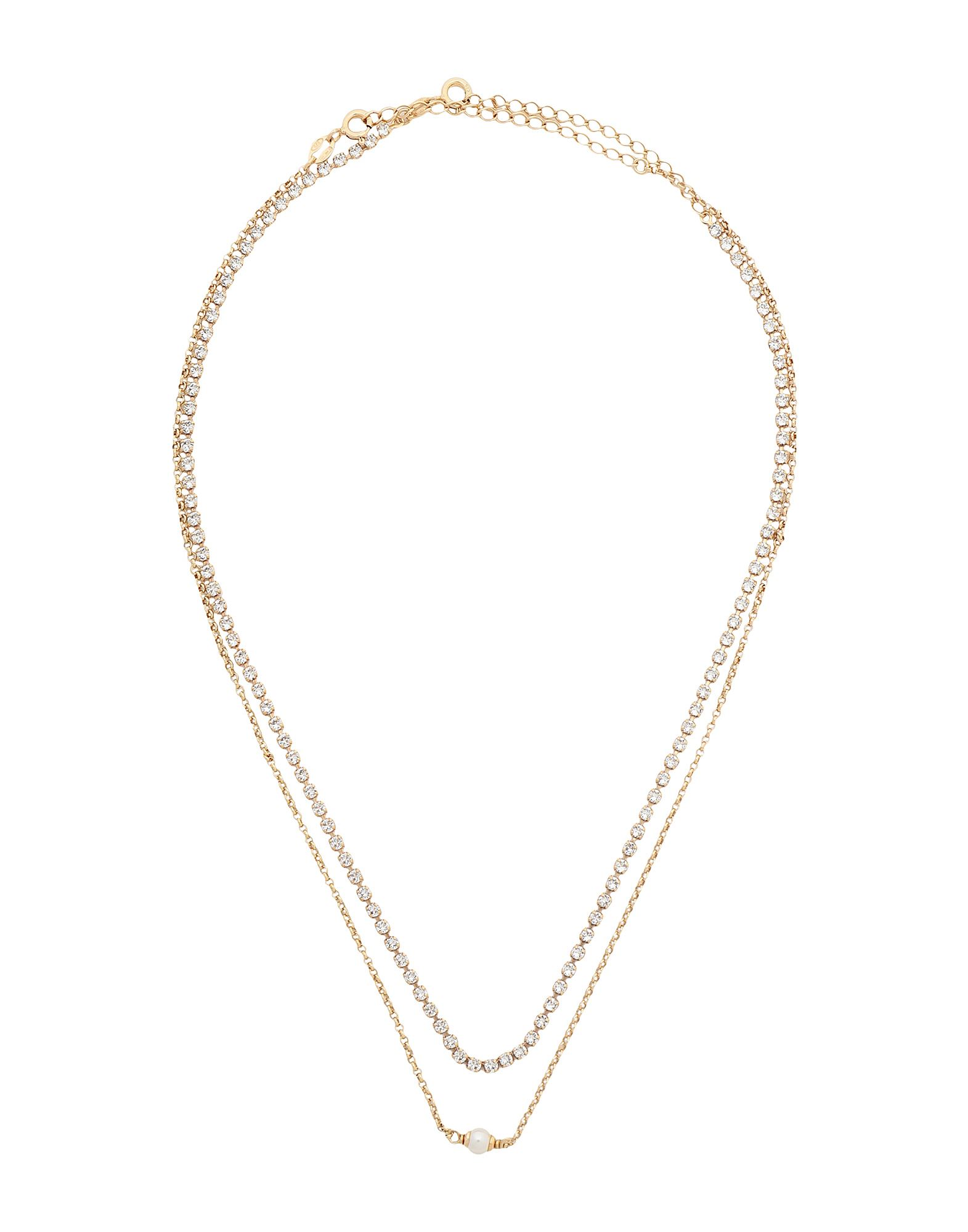 8 by YOOX レディース ネックレス GOLD PLATED 925 SILVER CHARM NECKLACE  SET ゴールド