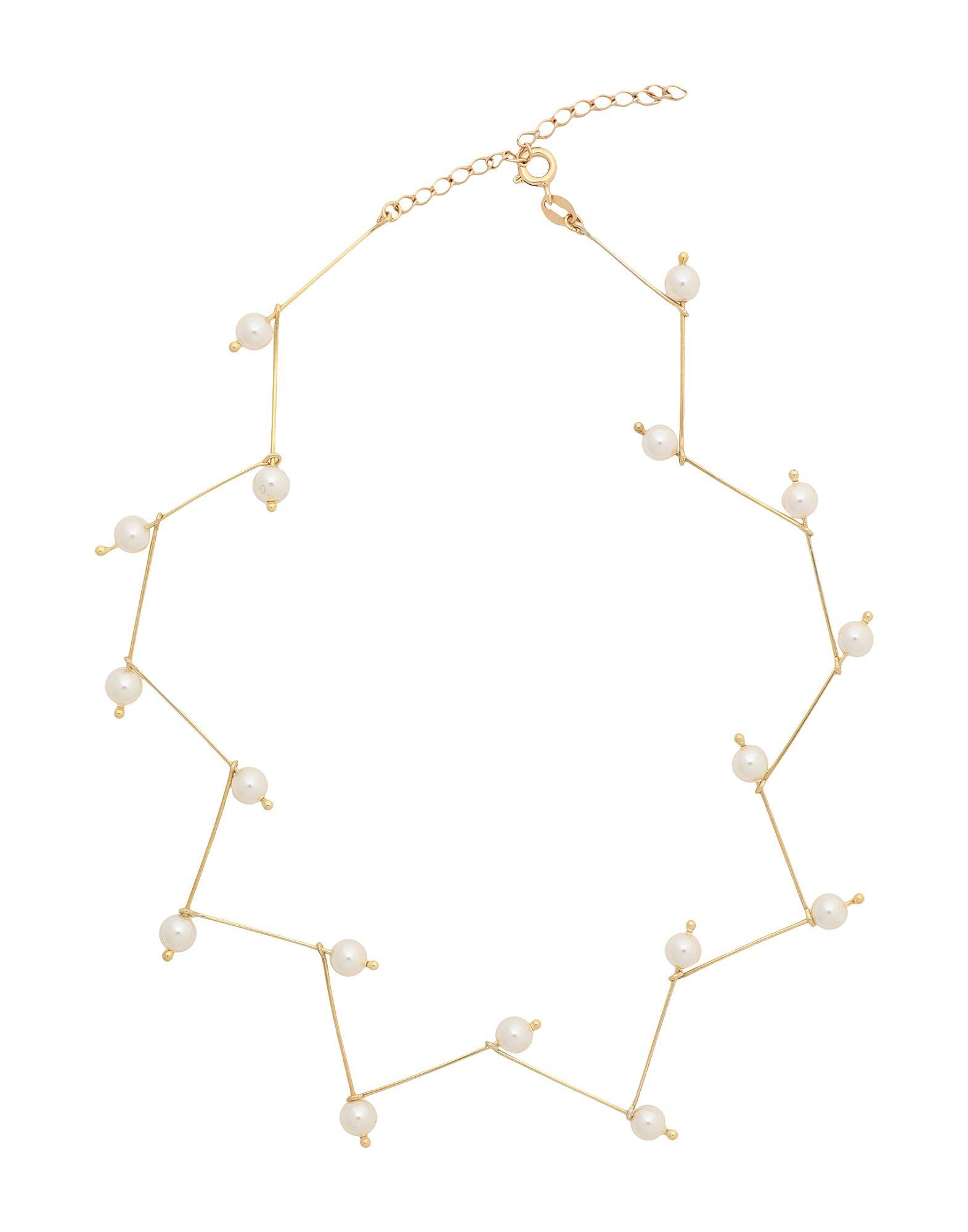 《セール開催中》8 by YOOX レディース ネックレス ゴールド シルバー925/1000 GOLD PLATED 925 SILVER CHARM CHOKER