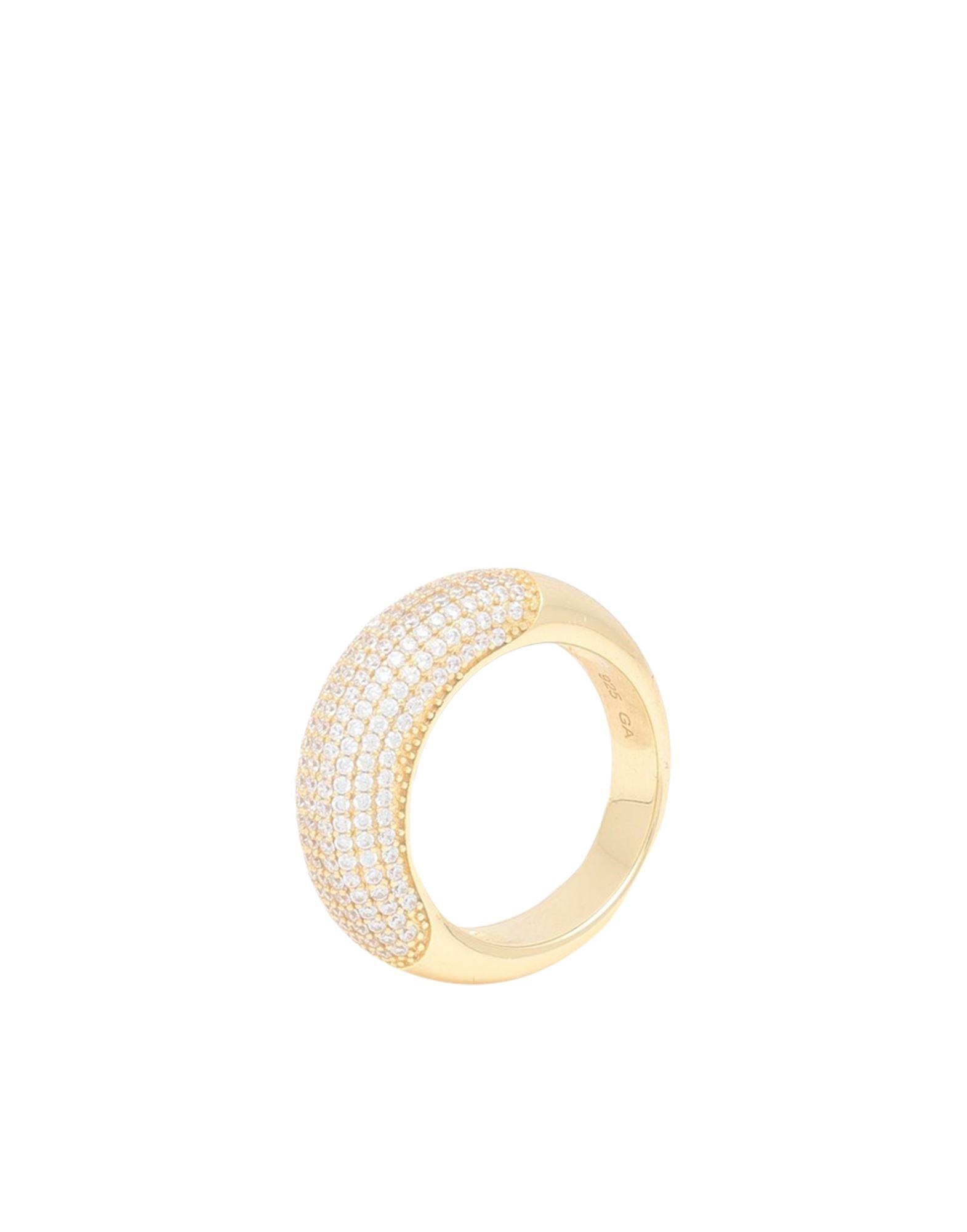 《セール開催中》GALLERIA ARMADORO レディース 指輪 ゴールド 54 シルバー925/1000 / 18金メッキ COCO PAVE RING