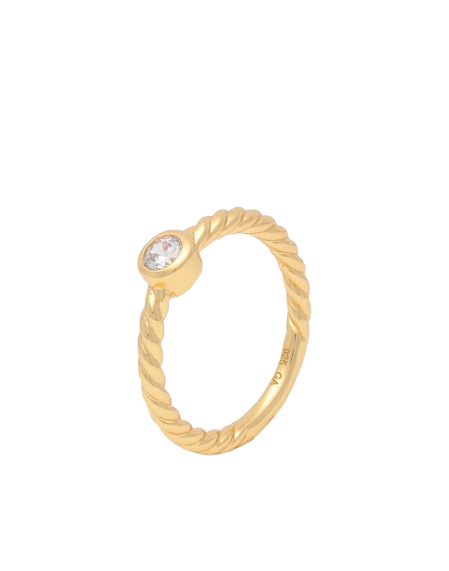 《セール開催中》GALLERIA ARMADORO レディース 指輪 ゴールド 54 シルバー925/1000 / 18金メッキ SPEIRA ROUND WCZ RING