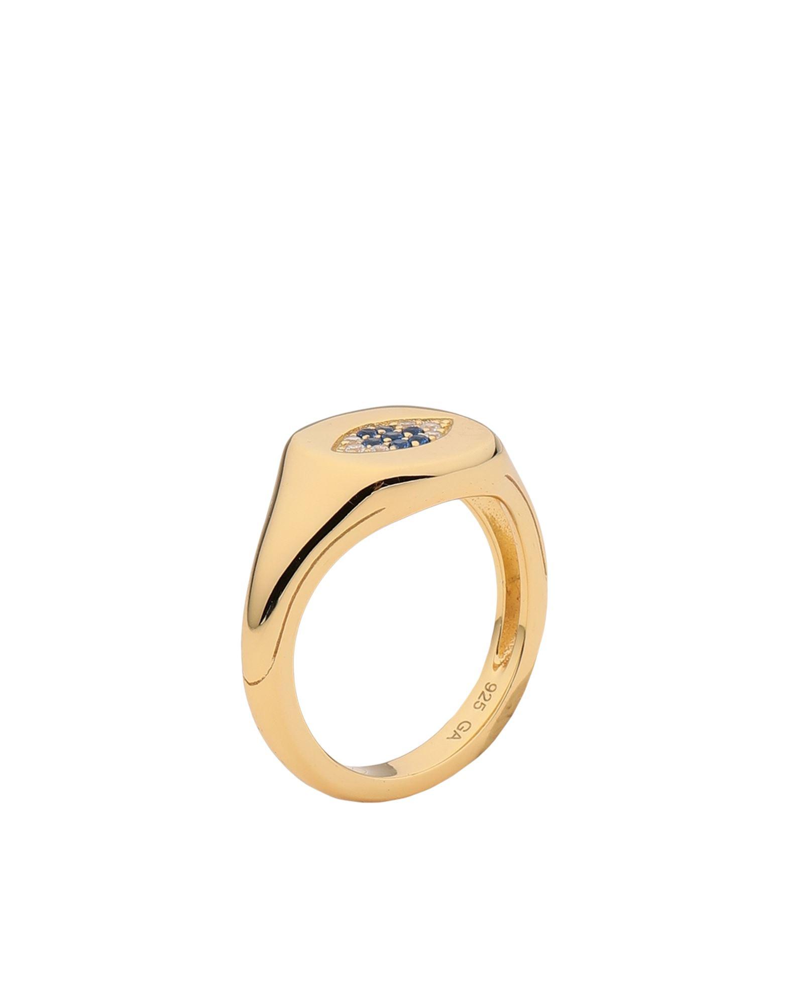 《セール開催中》GALLERIA ARMADORO レディース 指輪 ゴールド 54 シルバー925/1000 / 18金メッキ EVIL EYE SIGNET