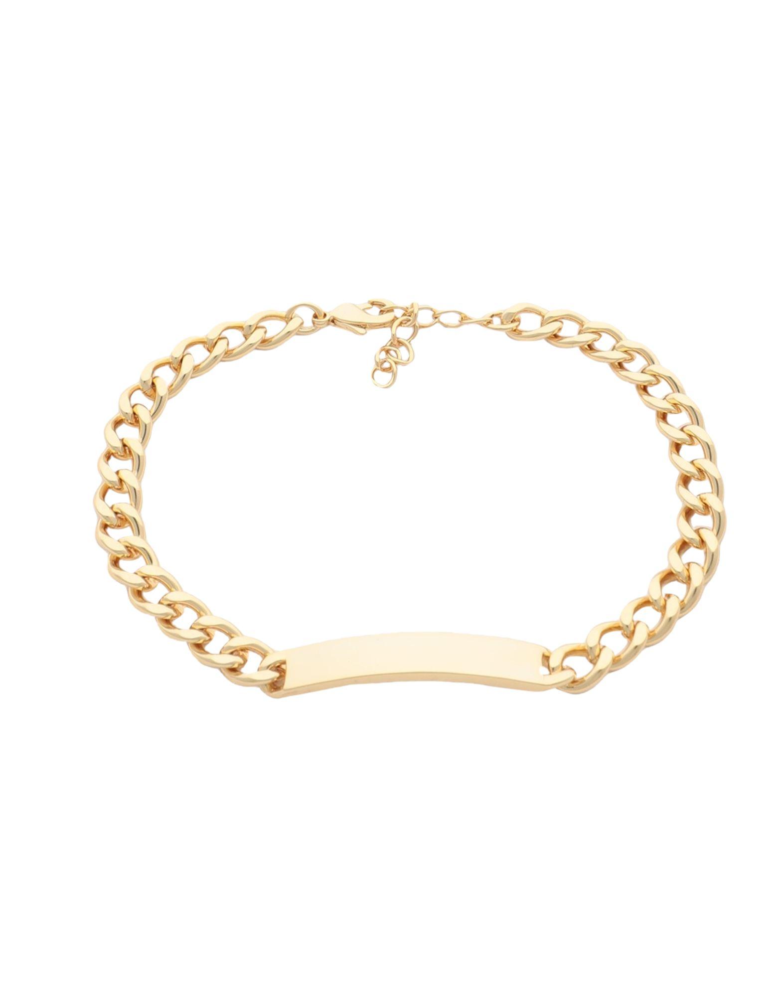 《セール開催中》GALLERIA ARMADORO レディース ブレスレット ゴールド 真鍮/ブラス / 18金メッキ CATENA ID BRACELET
