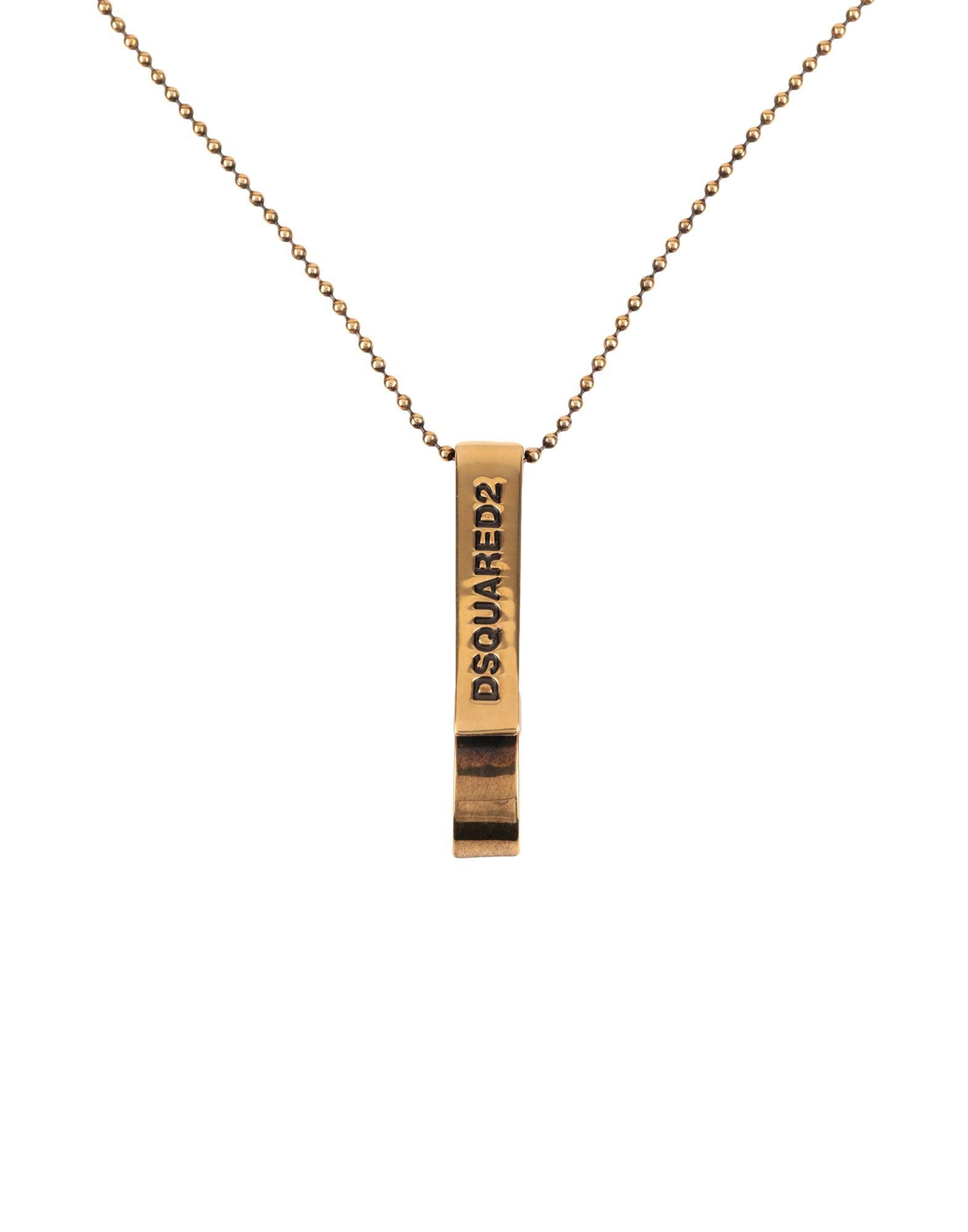 《セール開催中》DSQUARED2 メンズ ネックレス ゴールド 銀 90% / 真鍮/ブラス 10%