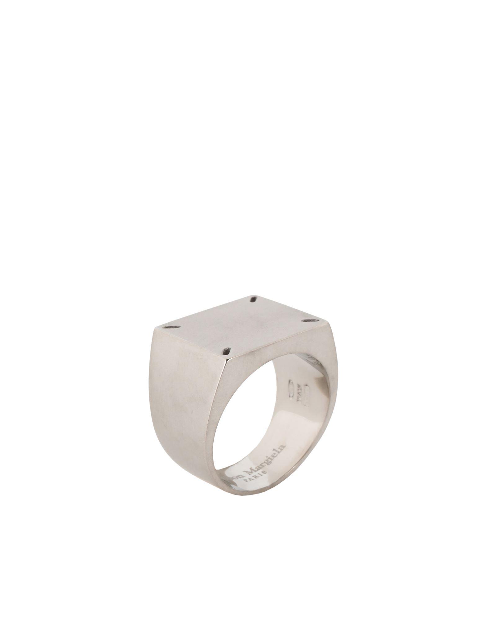 《セール開催中》MAISON MARGIELA メンズ 指輪 シルバー L シルバー925/1000 100%
