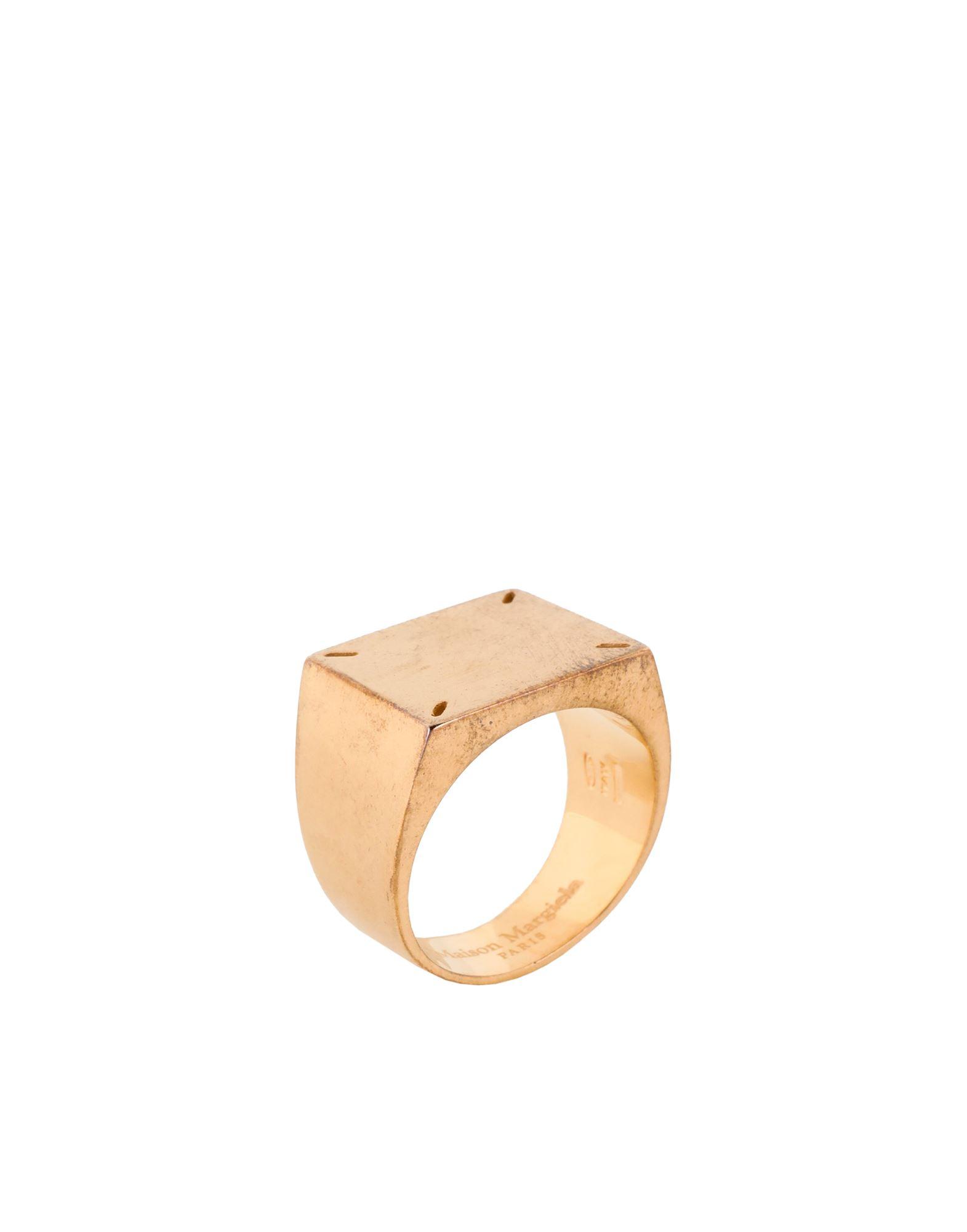 《セール開催中》MAISON MARGIELA メンズ 指輪 ゴールド L シルバー925/1000 100%