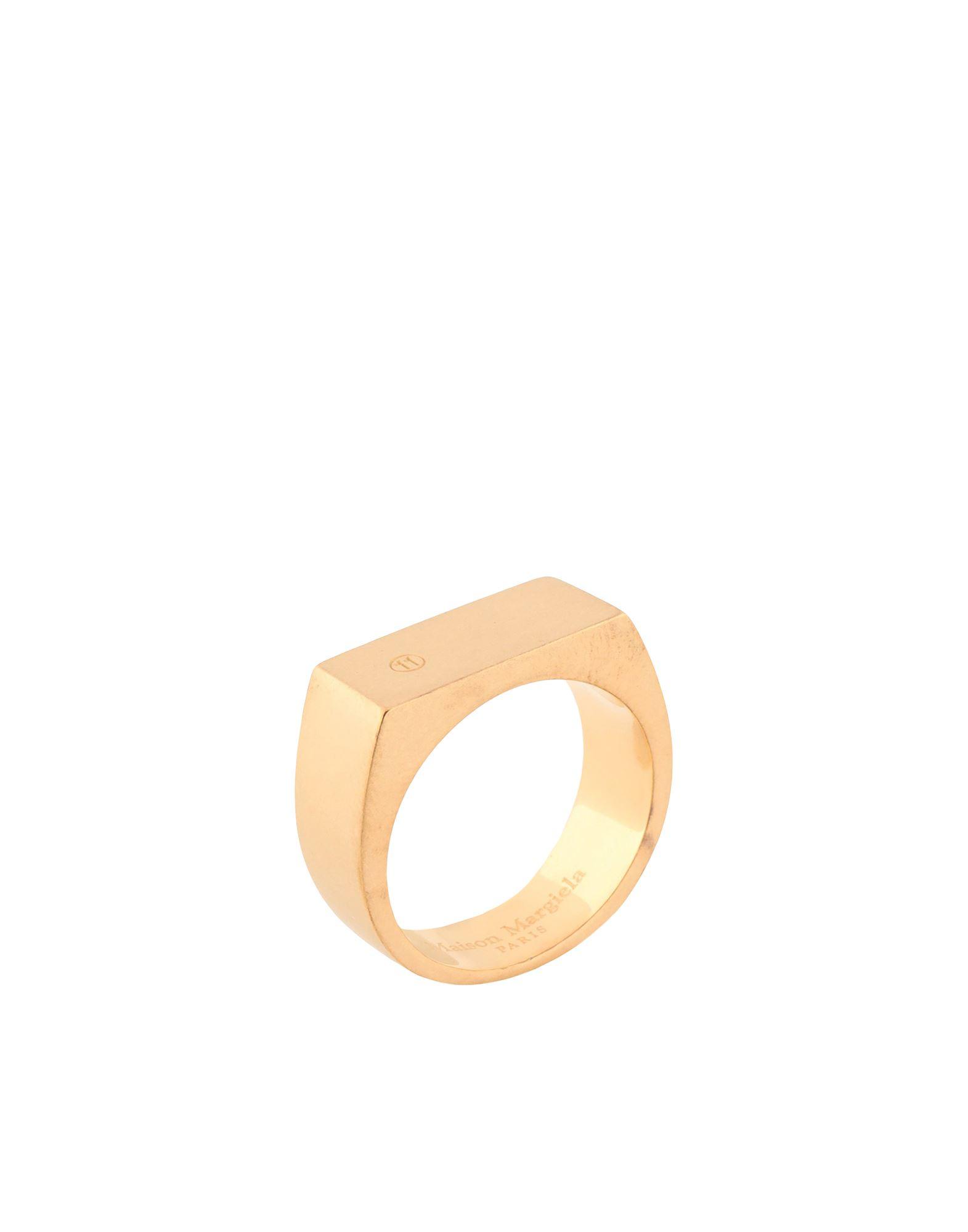 《セール開催中》MAISON MARGIELA メンズ 指輪 ゴールド S シルバー925/1000 100%