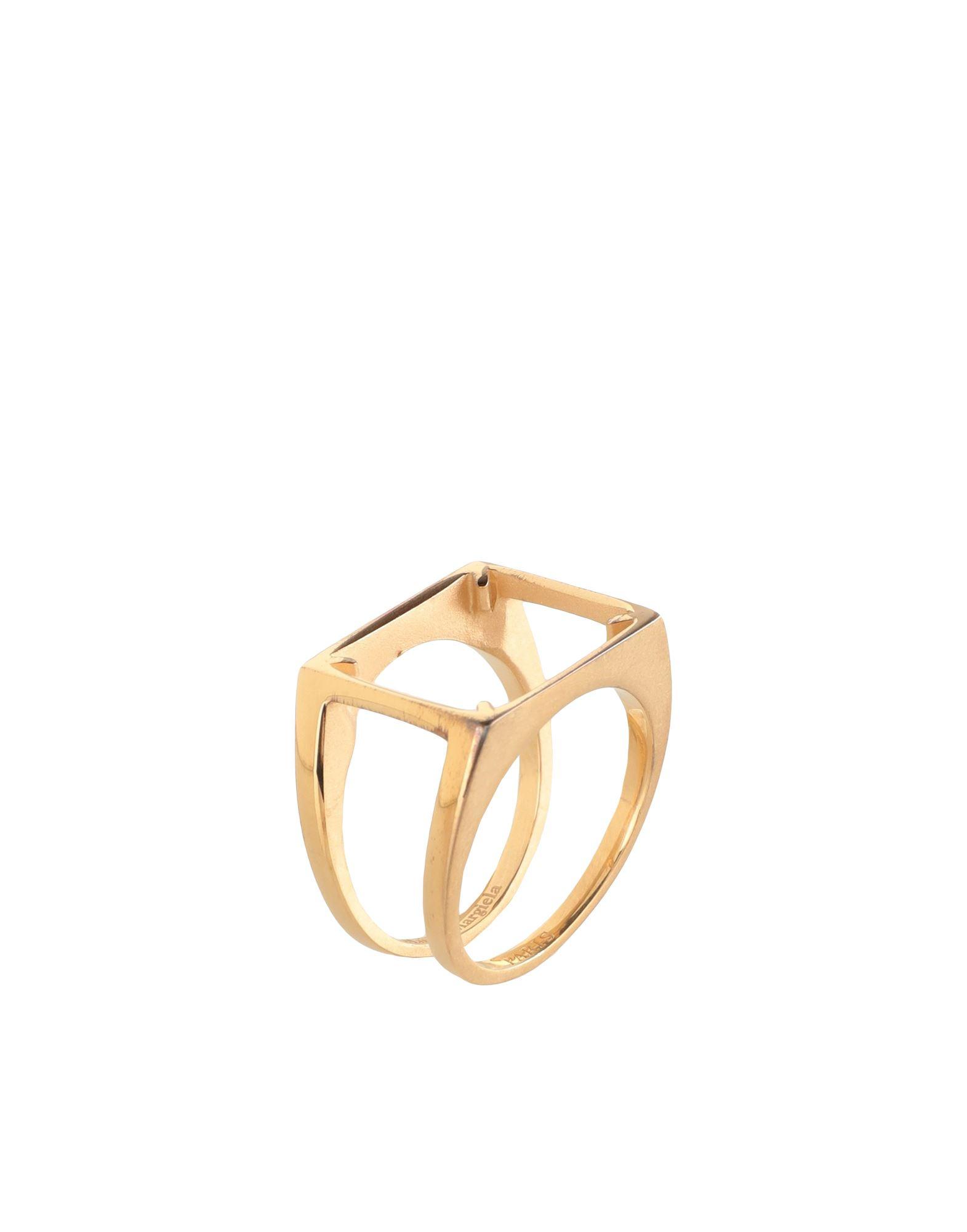《セール開催中》MAISON MARGIELA メンズ 指輪 ゴールド XS シルバー925/1000 100%