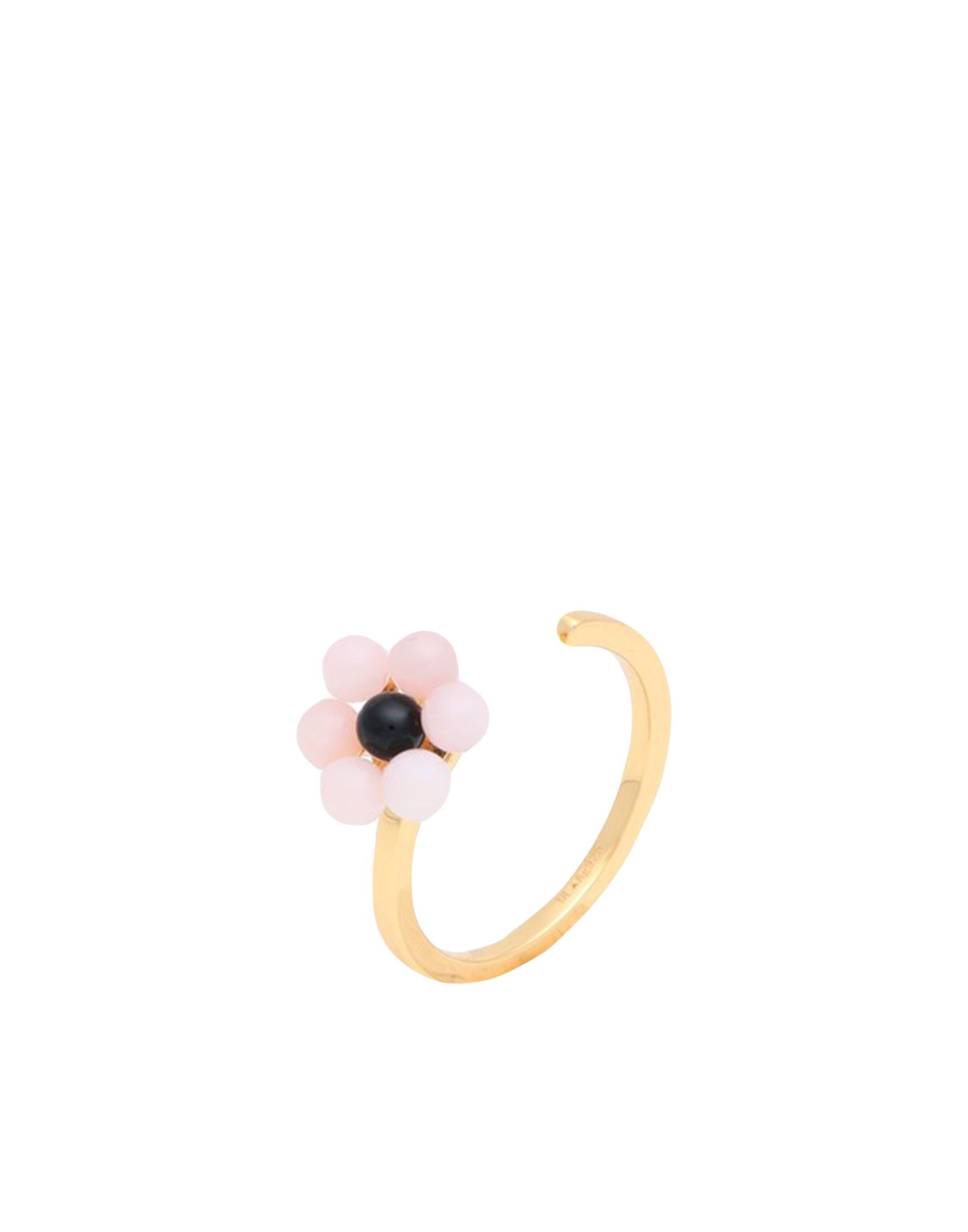 《セール開催中》DESIGN LETTERS レディース 指輪 ピンク one size シルバー925/1000 / 18金メッキ / オパール / めのう MY FLOWER RING