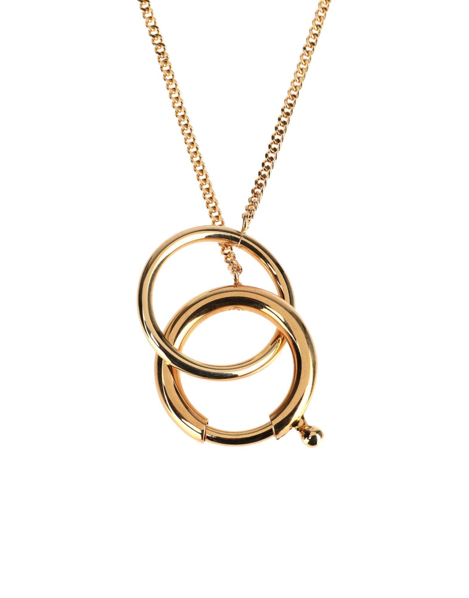 《セール開催中》MM6 MAISON MARGIELA レディース ネックレス ゴールド 真鍮/ブラス 100%