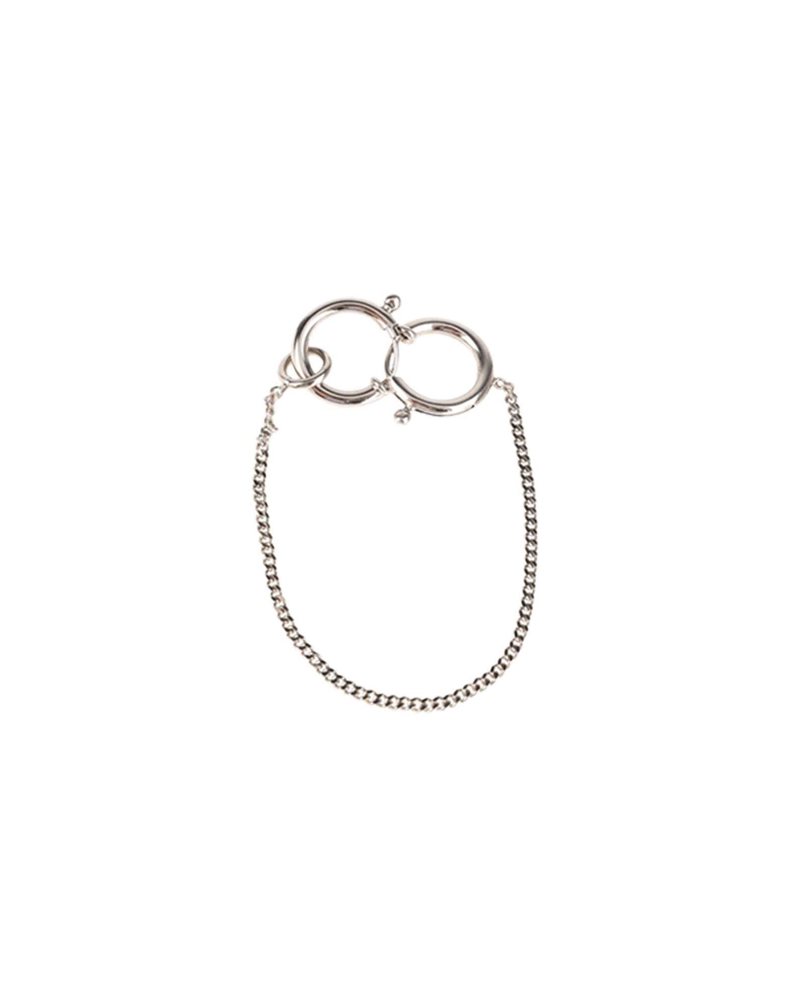 《セール開催中》MM6 MAISON MARGIELA レディース ブレスレット シルバー 真鍮/ブラス 100%