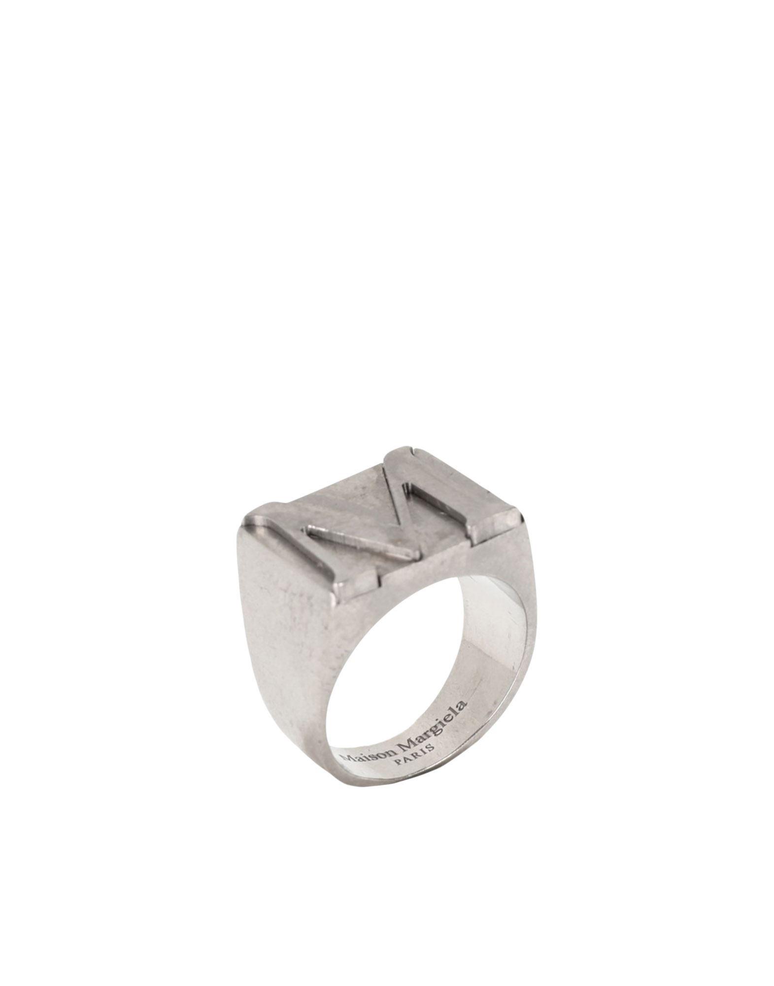 《セール開催中》MAISON MARGIELA メンズ 指輪 シルバー XS シルバー925/1000 100%
