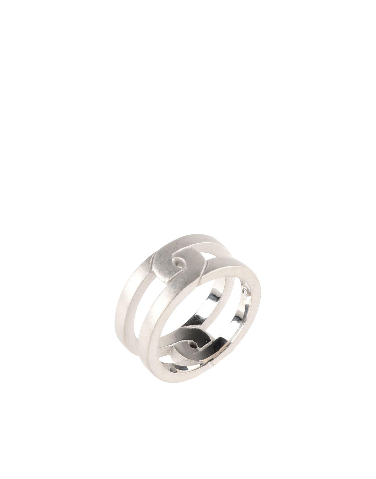 《セール開催中》MAISON MARGIELA メンズ 指輪 シルバー XS 銀 100%