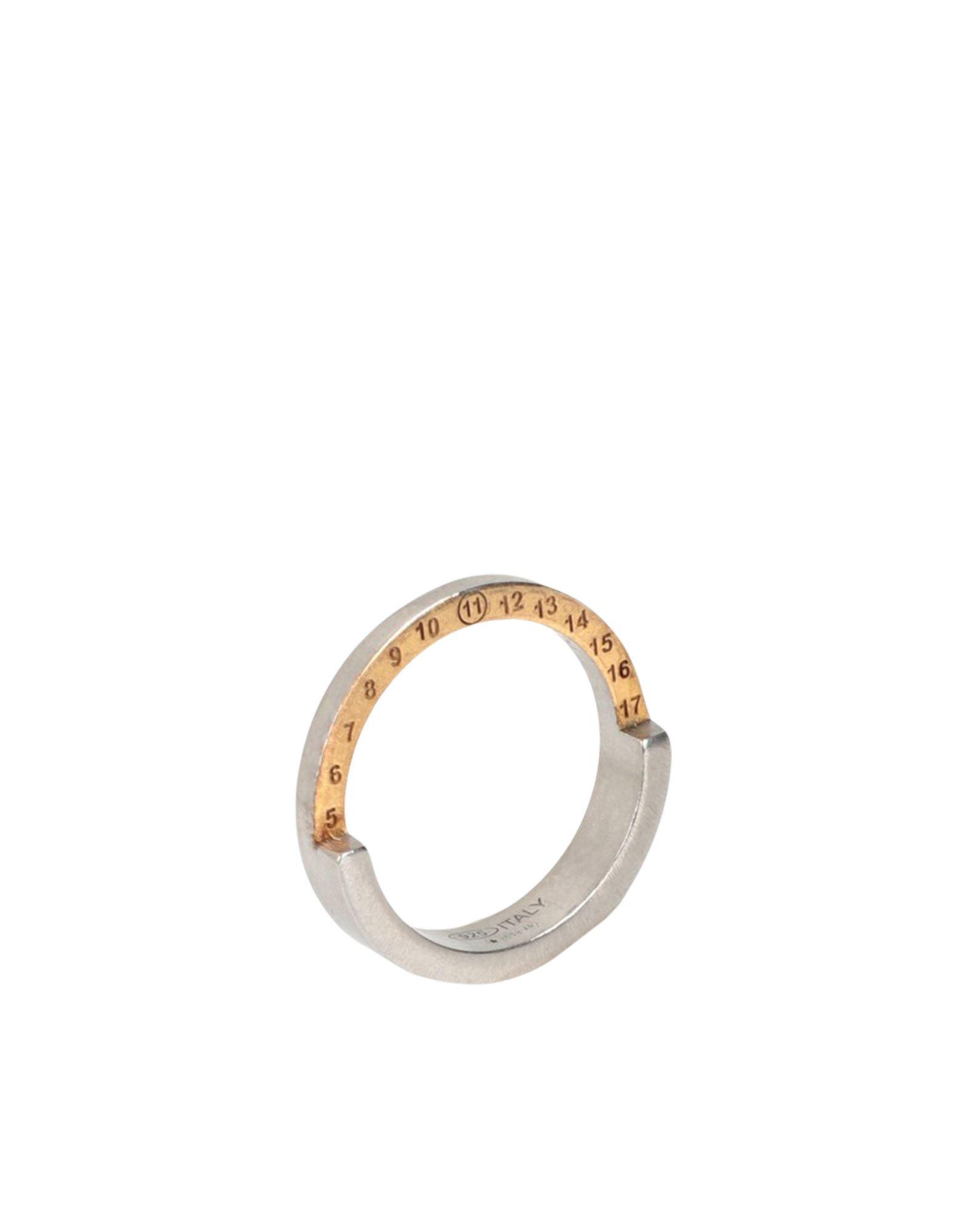 《セール開催中》MAISON MARGIELA レディース 指輪 シルバー XS シルバー925/1000 100%