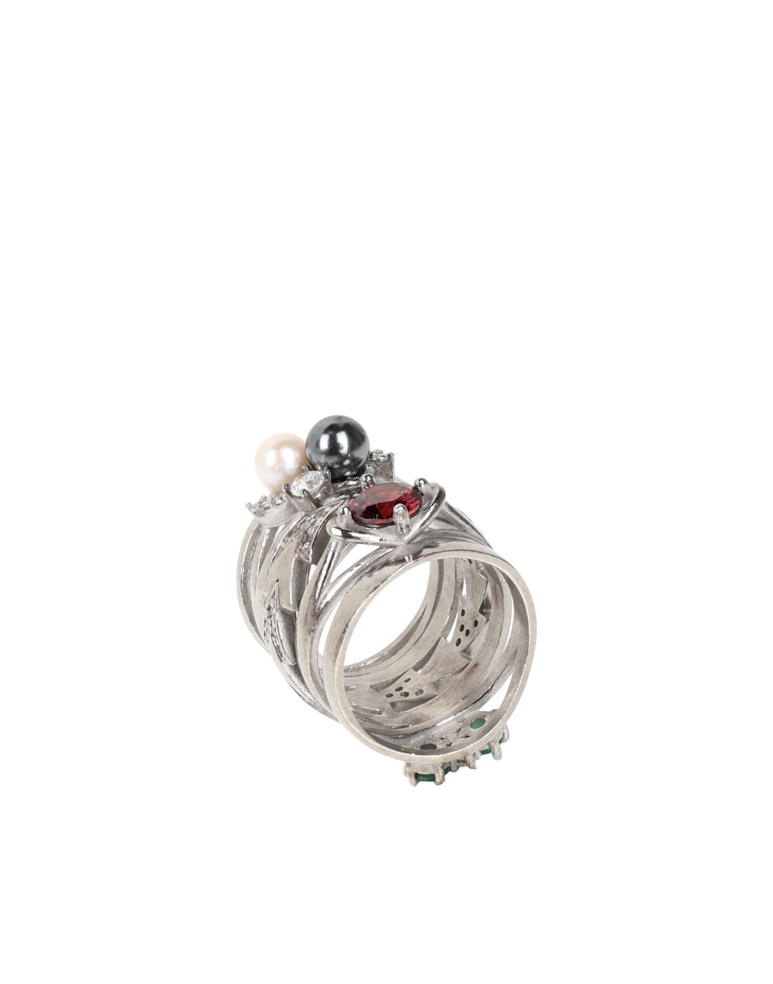 《セール開催中》MAISON MARGIELA レディース 指輪 シルバー S シルバー925/1000 100%