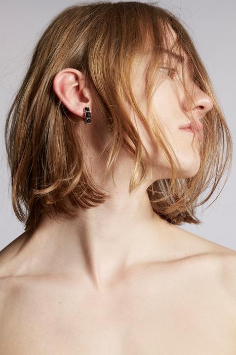 Unisex Boucle d'oreilles Taille OneSize 40% Argent 30% Laiton 30% Cristal - Dsquared2 - Modalova