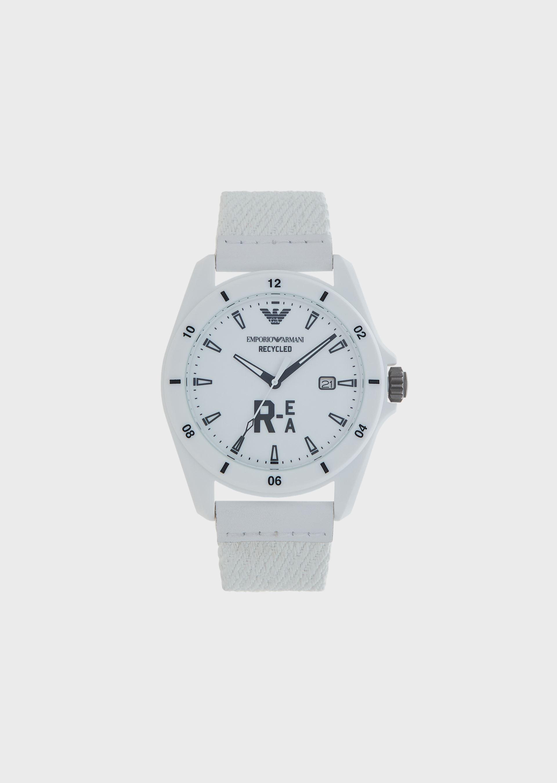 Emporio Armani Leather Strap Watches - Item 50253888 In White
