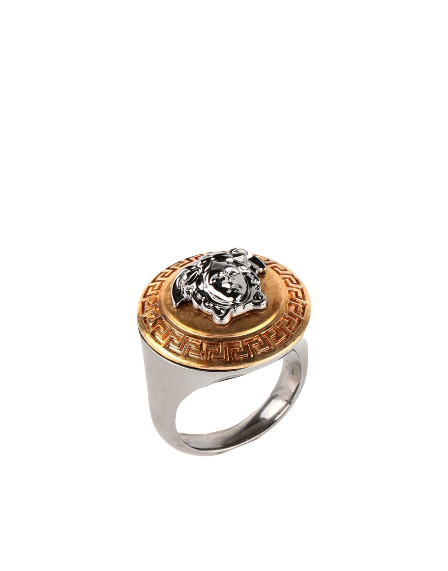 《セール開催中》VERSACE メンズ 指輪 ゴールド 21 金属