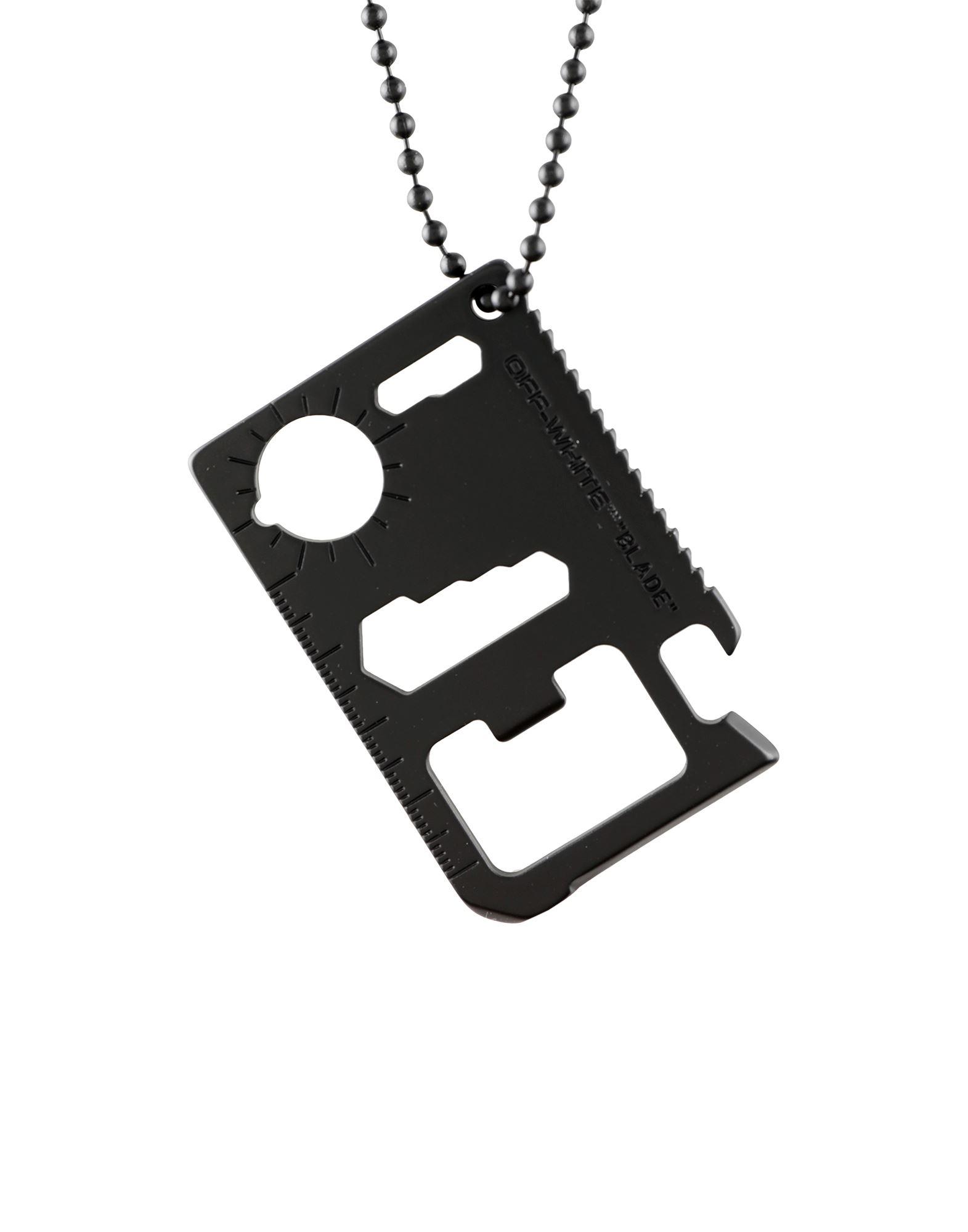 《セール開催中》OFF-WHITE? メンズ ネックレス ブラック ザマック合金 50% / 真鍮/ブラス 50%
