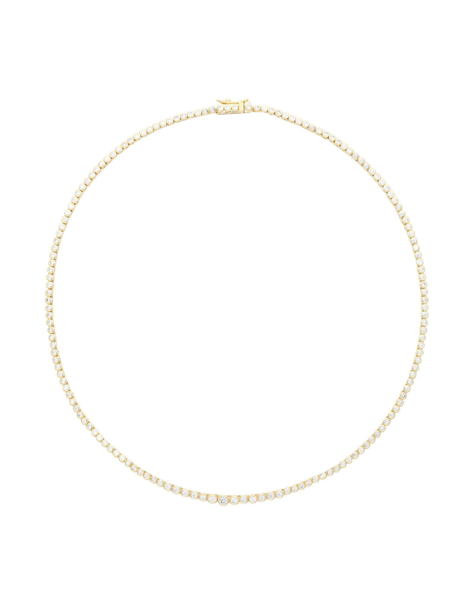 《セール開催中》LUV AJ レディース ネックレス ゴールド 真鍮/ブラス / キュービックジルコニア Ballier Bezel Tennis Necklace- Gold
