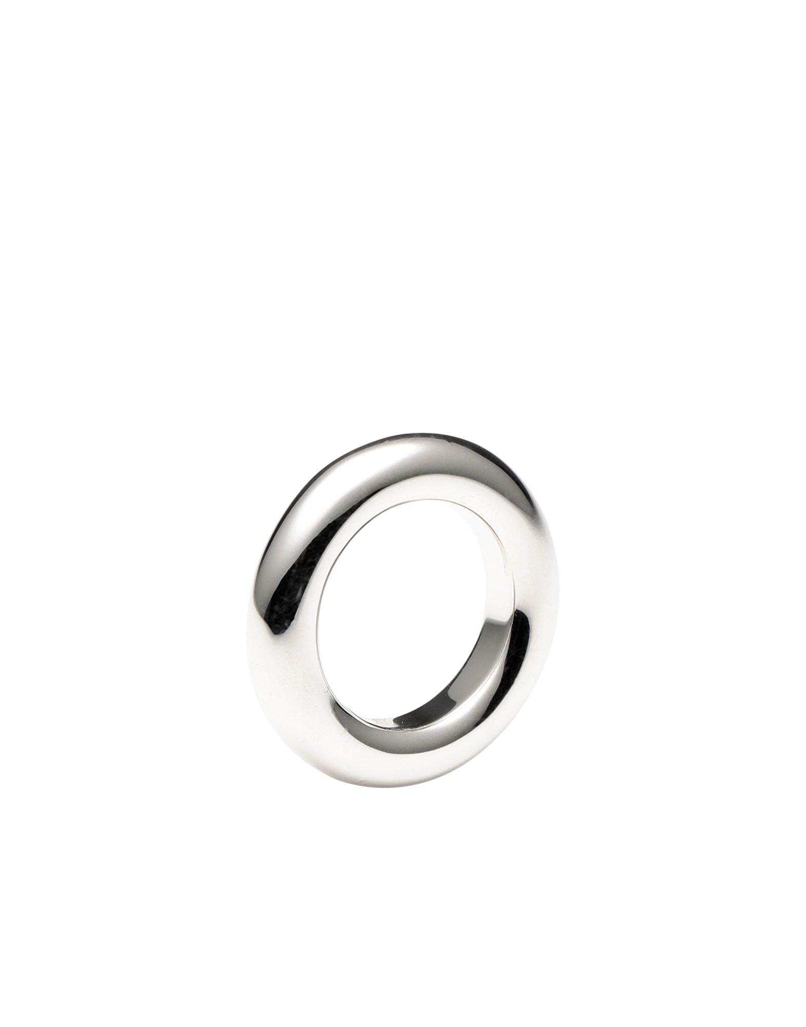 《セール開催中》LUV AJ レディース 指輪 シルバー 5 真鍮/ブラス Amalfi Tube Ring- Silver