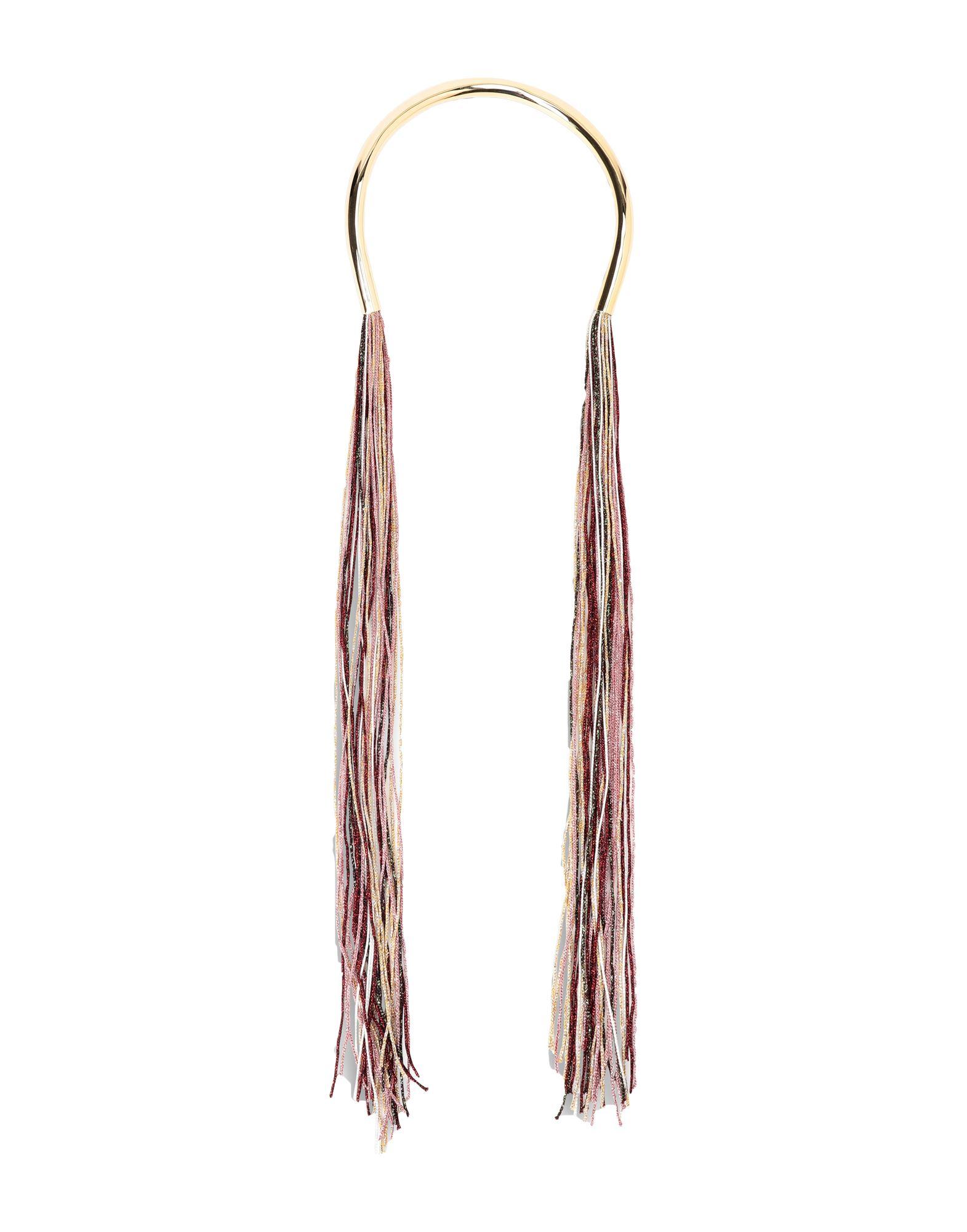 《セール開催中》MISSONI レディース ネックレス ボルドー 金属 / 紡績繊維