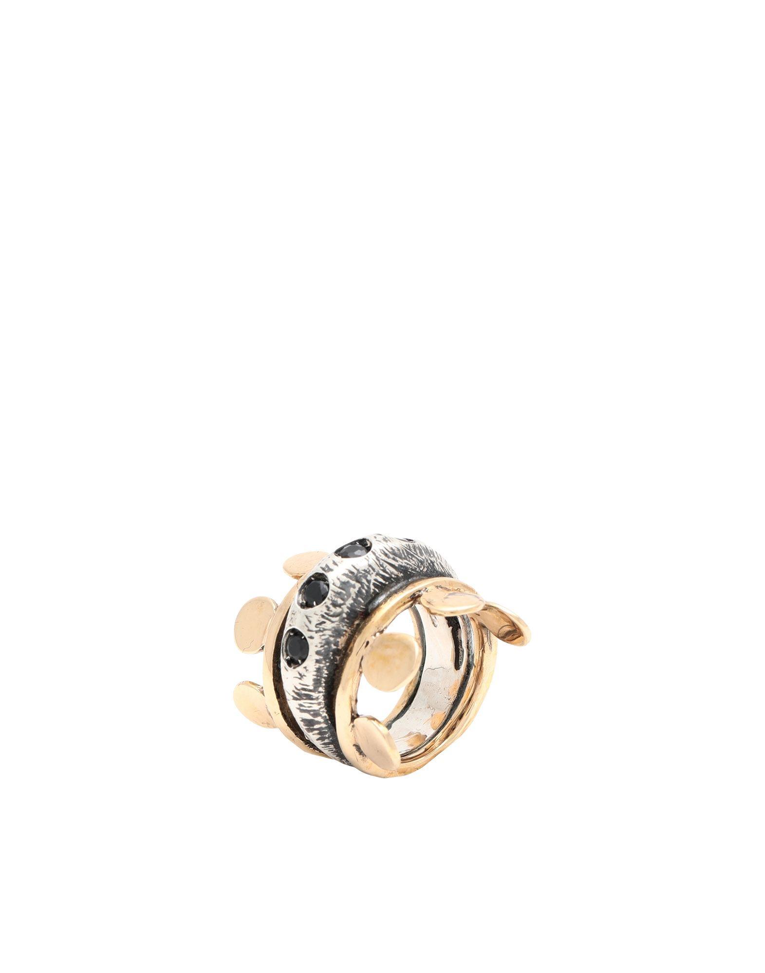 《セール開催中》VOODOO JEWELS レディース 指輪 シルバー 54 ブロンズ / シルバー925/1000 / マーカサイト IMPERIAL RING