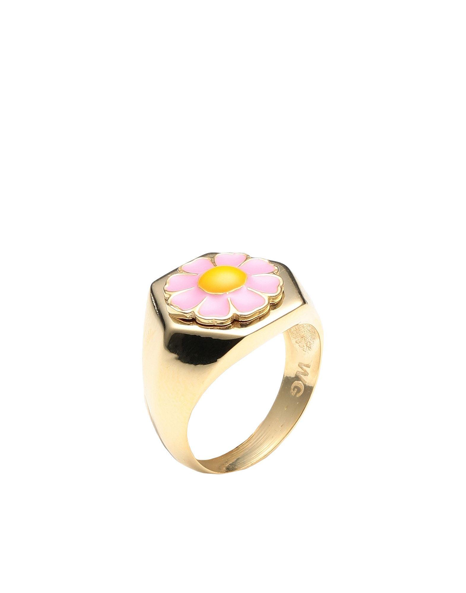 《セール開催中》WILHELMINA GARCIA レディース 指輪 ゴールド 46 シルバー925/1000 / 18金メッキ GOLD DAISY RING