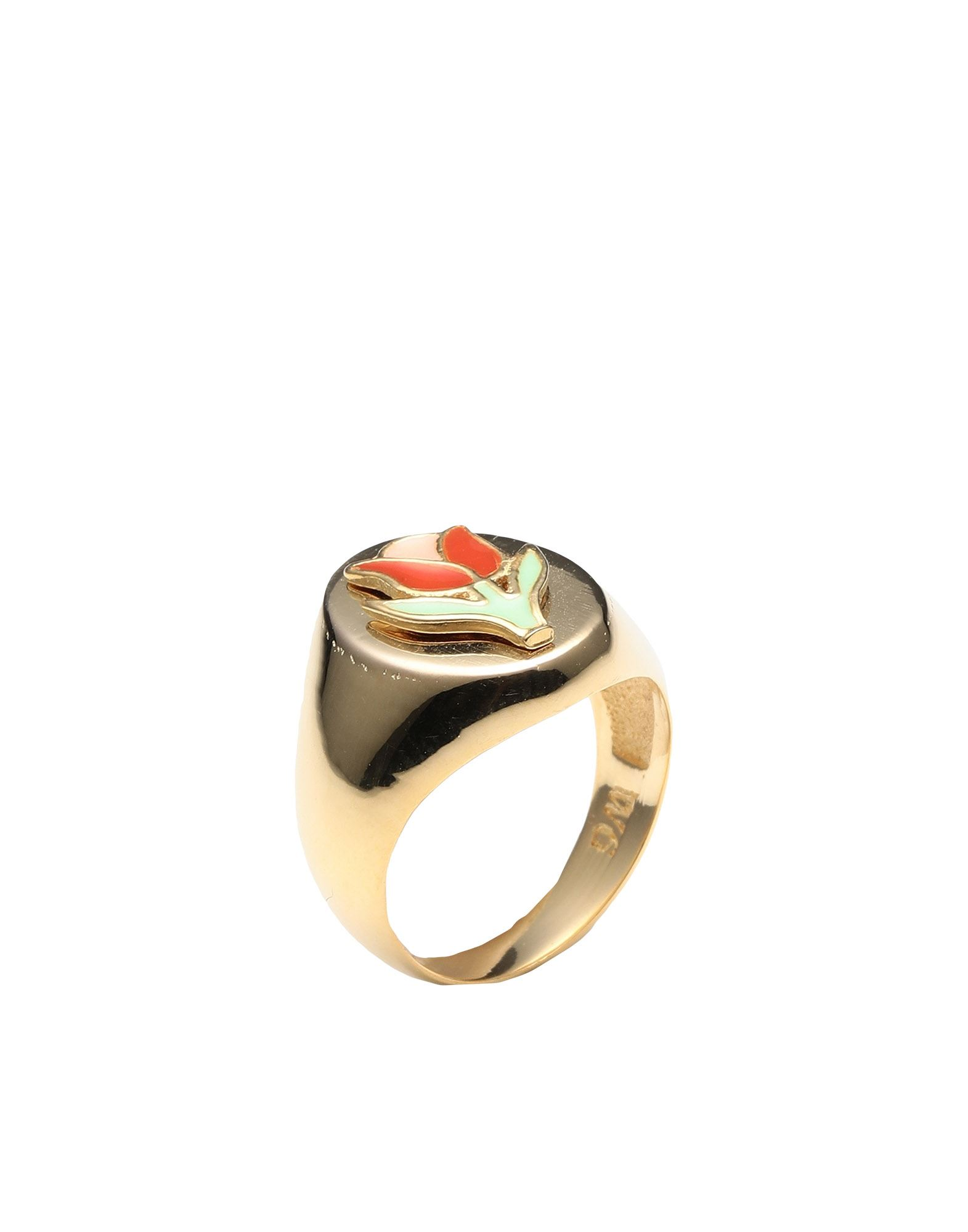《セール開催中》WILHELMINA GARCIA レディース 指輪 ゴールド 46 シルバー925/1000 / 18金メッキ GOLD TULIP RING