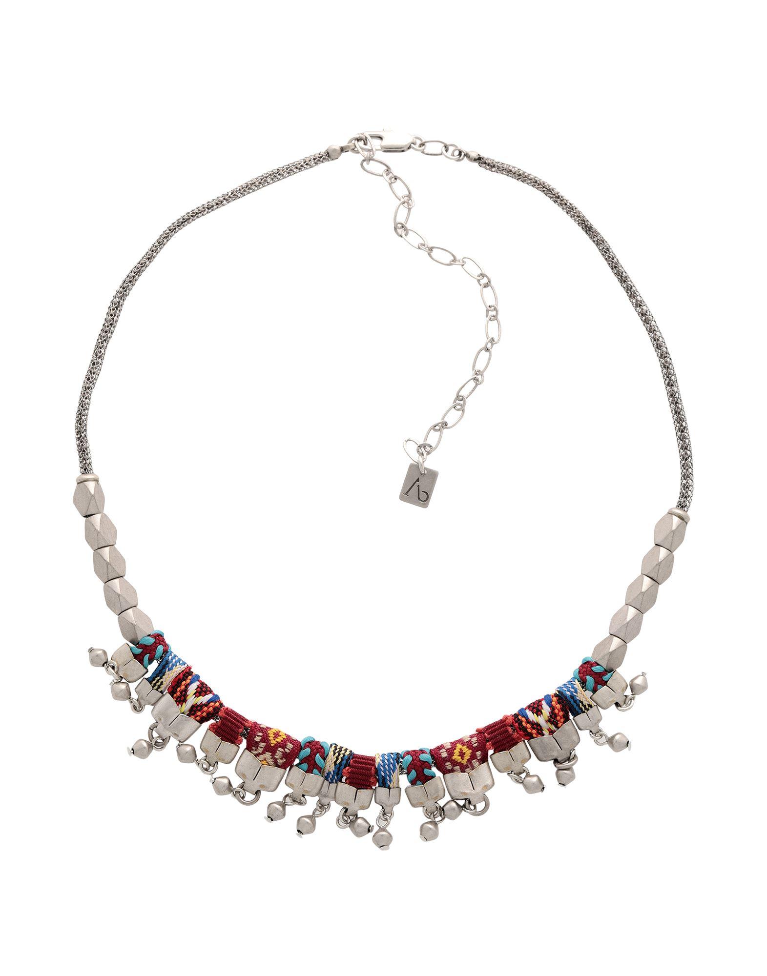 《セール開催中》AYALA BAR レディース ネックレス シルバー 真鍮/ブラス / クリスタル / ガラス / ポリウレタン