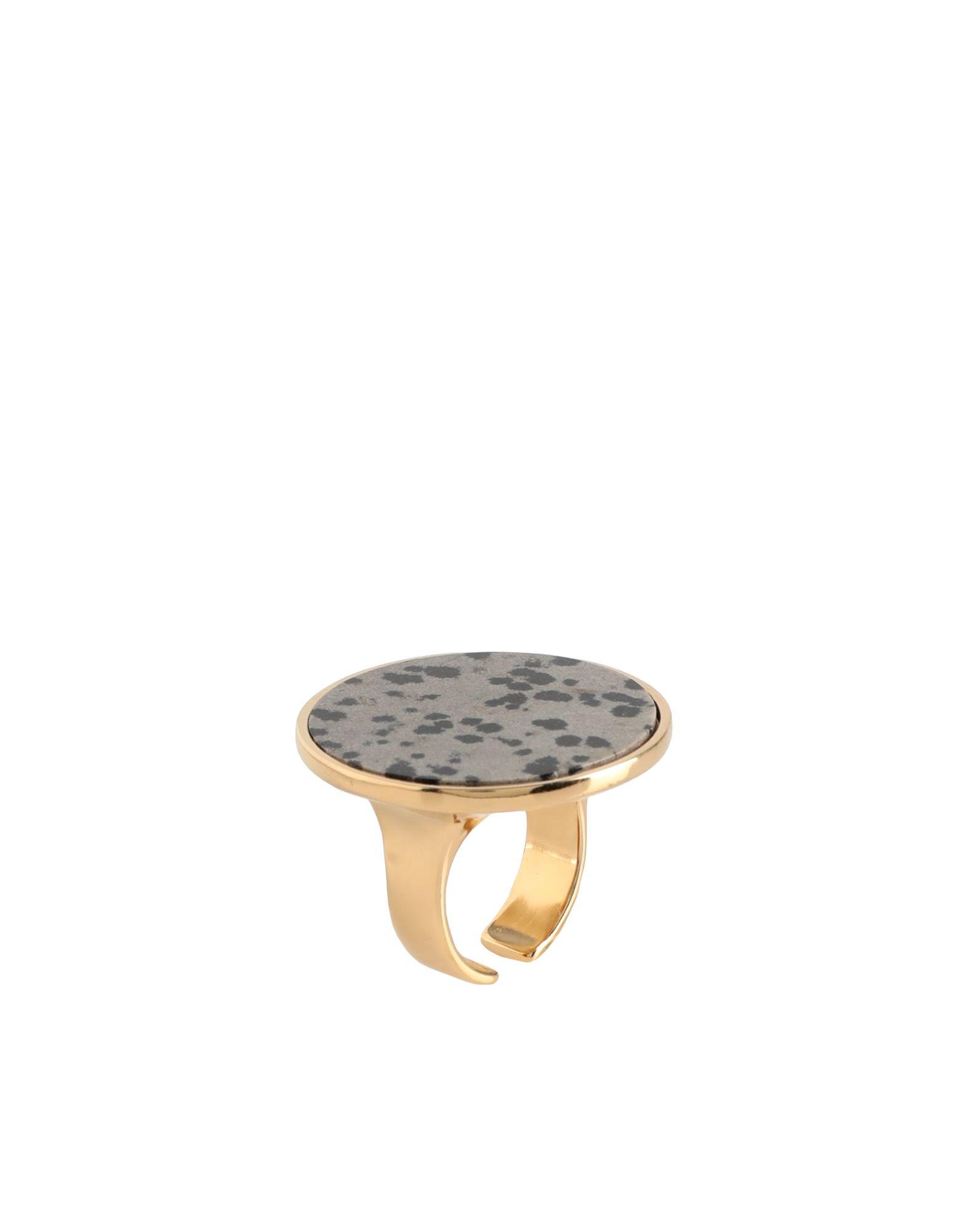 《セール開催中》ISABEL MARANT レディース 指輪 グレー 1 エコブラス 80% / 石 20%