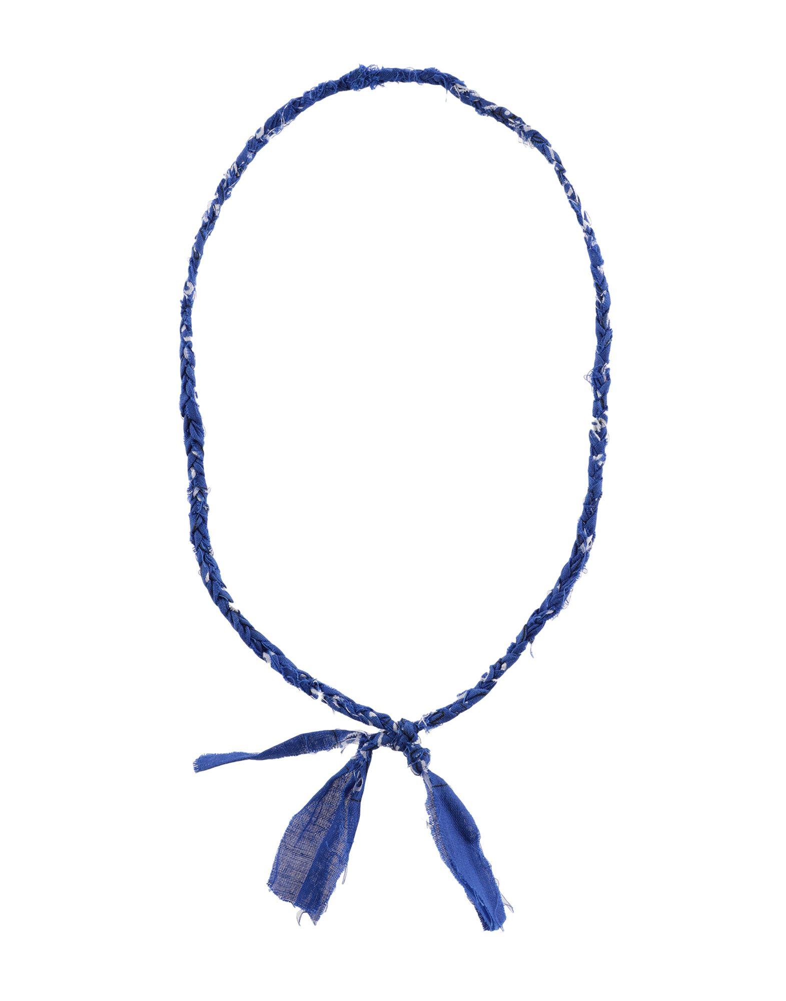 《セール開催中》AL DUCA D'AOSTA メンズ ネックレス ブルー 紡績繊維