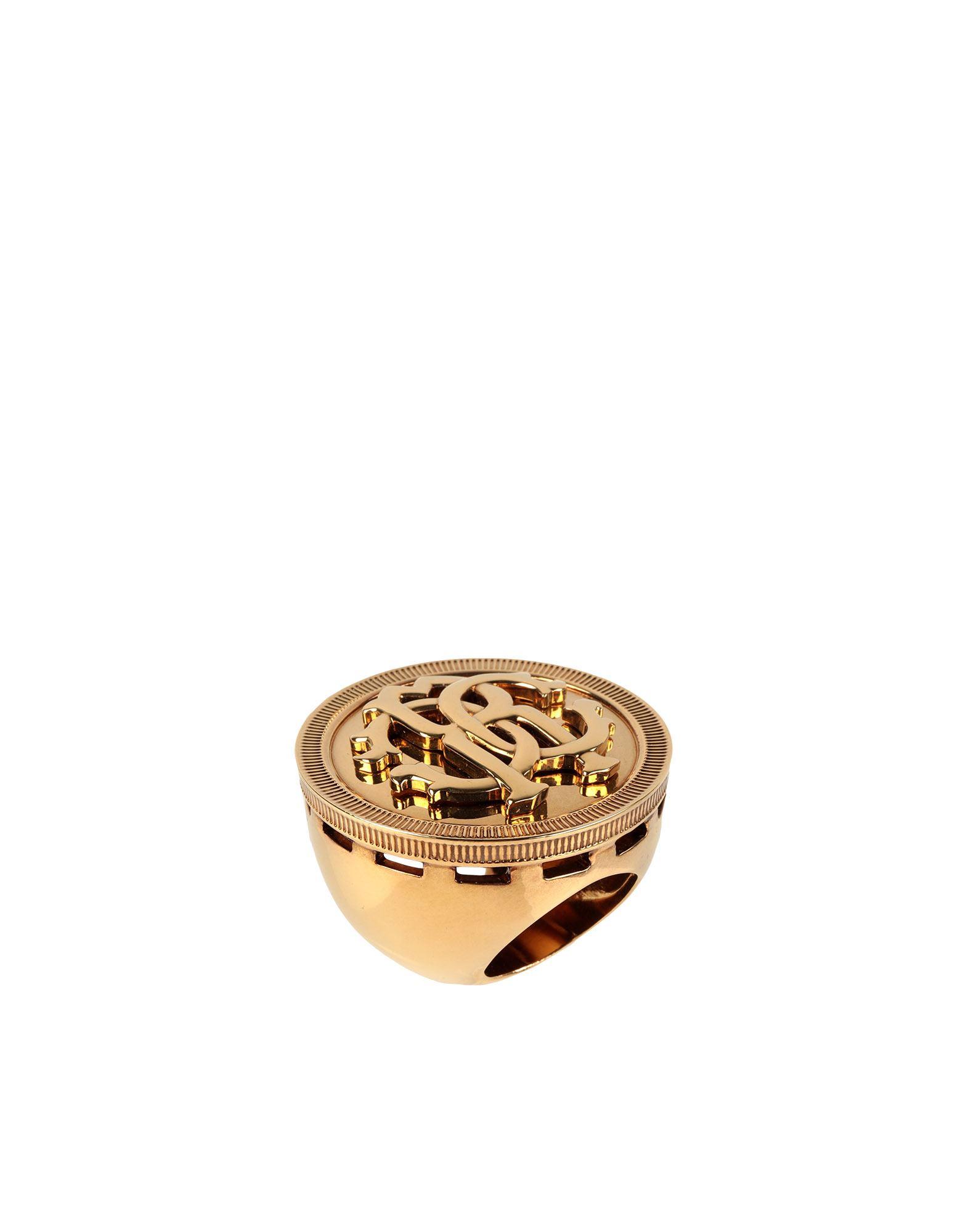 《セール開催中》ROBERTO CAVALLI レディース 指輪 ゴールド 8 金属