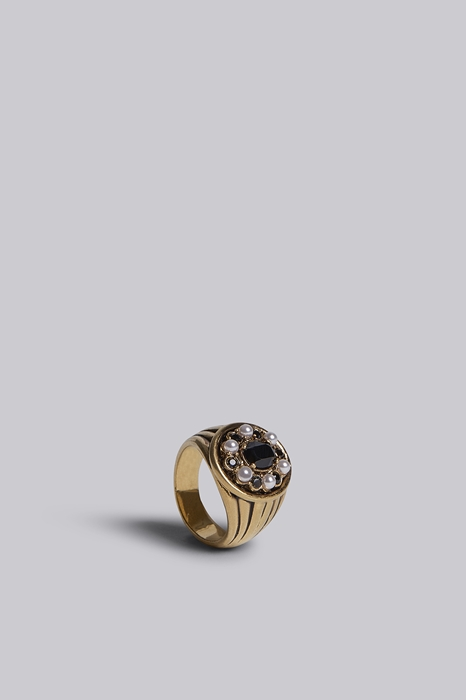 DSQUARED2 Unisex Bague Or Taille L 85% Argent 12% Cristal 3% Polyester