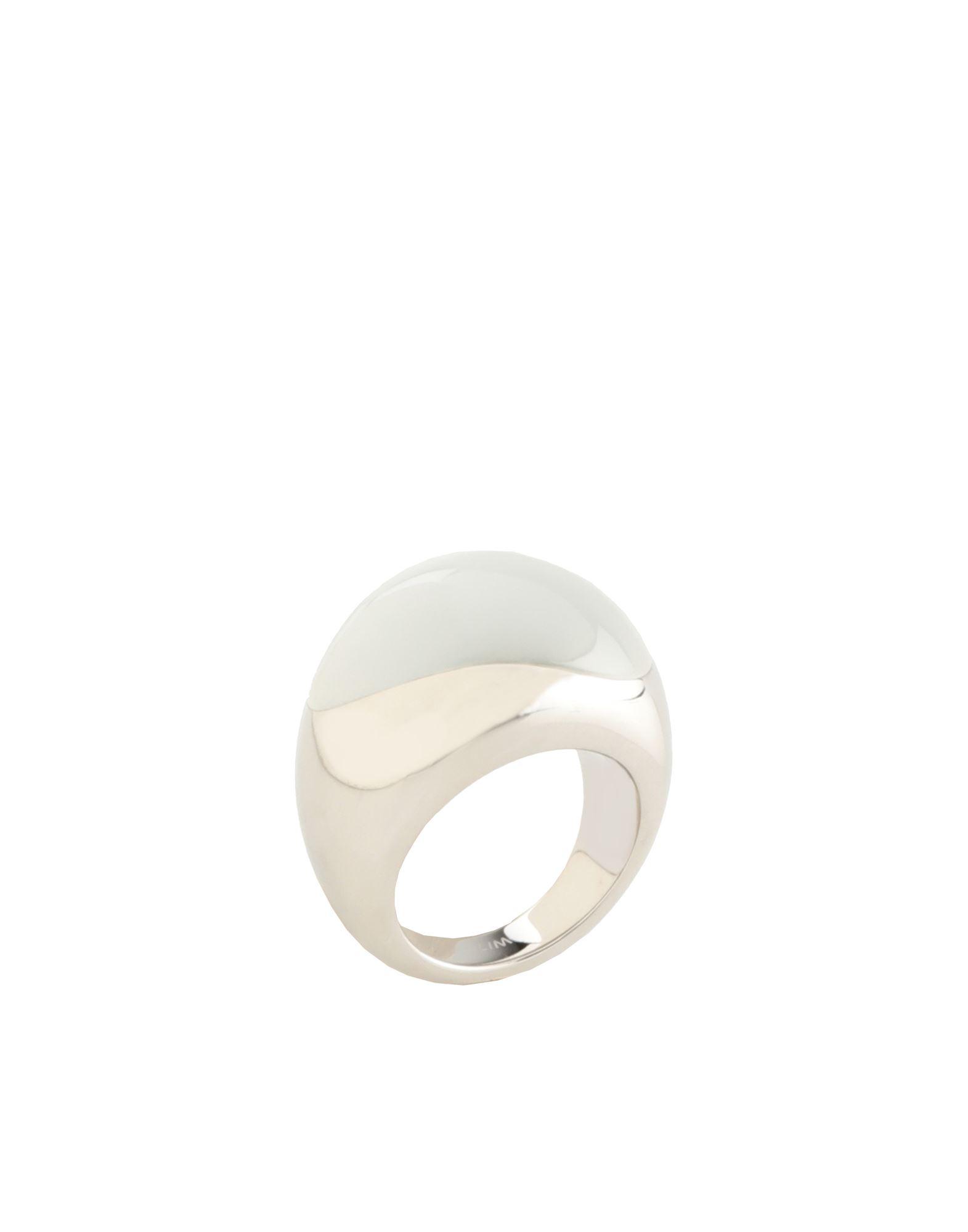 《セール開催中》CALVIN KLEIN レディース 指輪 ホワイト 6 スチール / ガラス