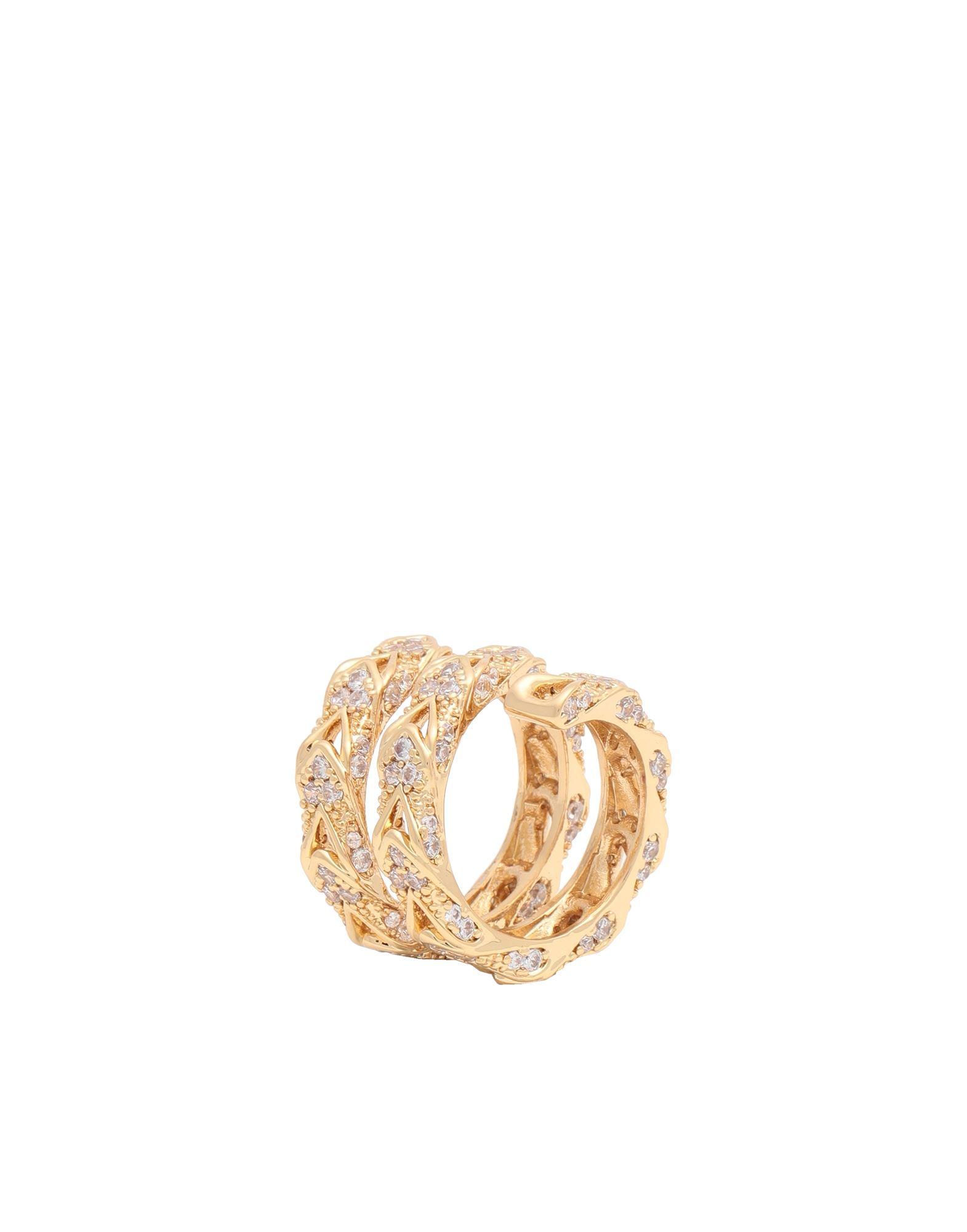 《セール開催中》CRYSTAL HAZE レディース 指輪 ゴールド 53 真鍮/ブラス / 18金メッキ / キュービックジルコニア ALEXIS-RING