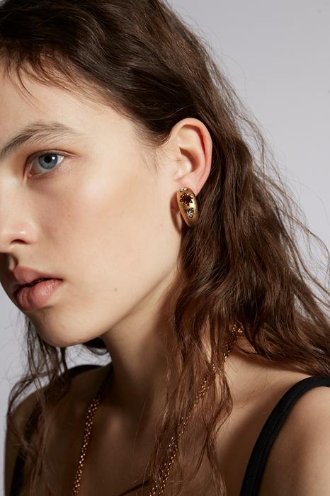 Boucle d'oreilles Taille OneSize 85% Étain 10% Cristal 5% Laiton - Dsquared2 - Modalova