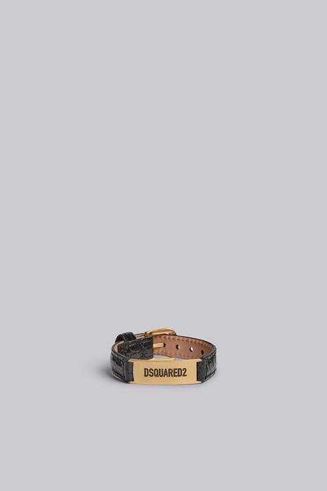 Bracelet Taille OneSize 100% Zamak Cuir de veau Laiton - Dsquared2 - Modalova