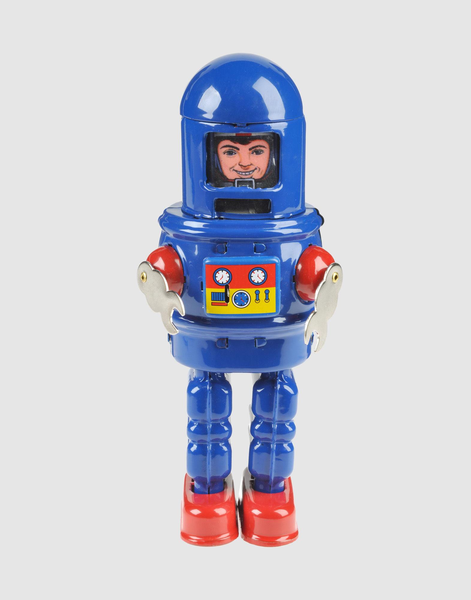 《セール開催中》RETRO ROBOT Unisex 雑貨 ブルー プラスティック