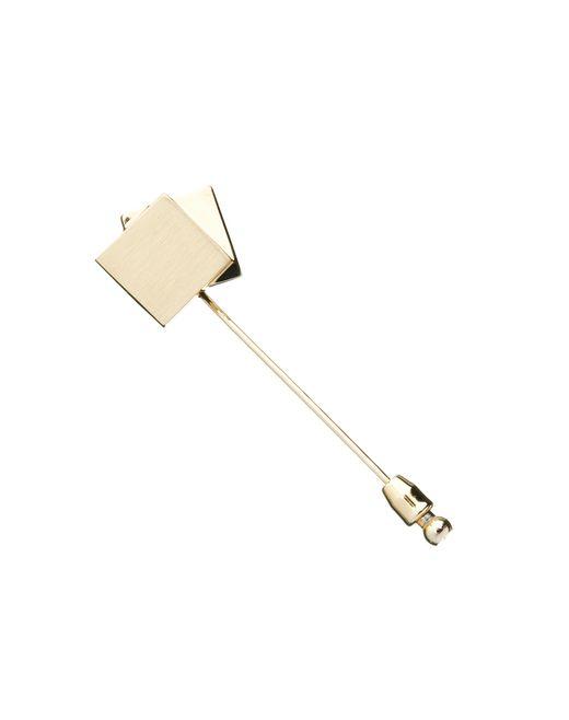 lanvin pin in gold metal men
