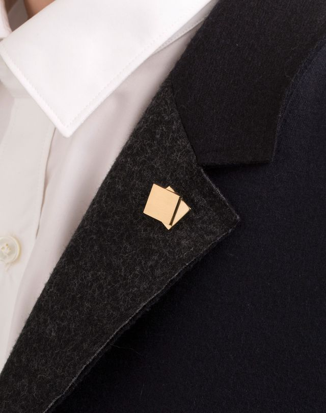 LANVIN PIN IN GOLD METAL Tie pin U r