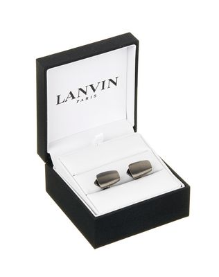 LANVIN CURVED CUFF LINKS IN RUTHENIUM METAL Cufflinks U f