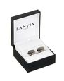 LANVIN Cufflinks Man CURVED CUFF LINKS IN RUTHENIUM METAL f