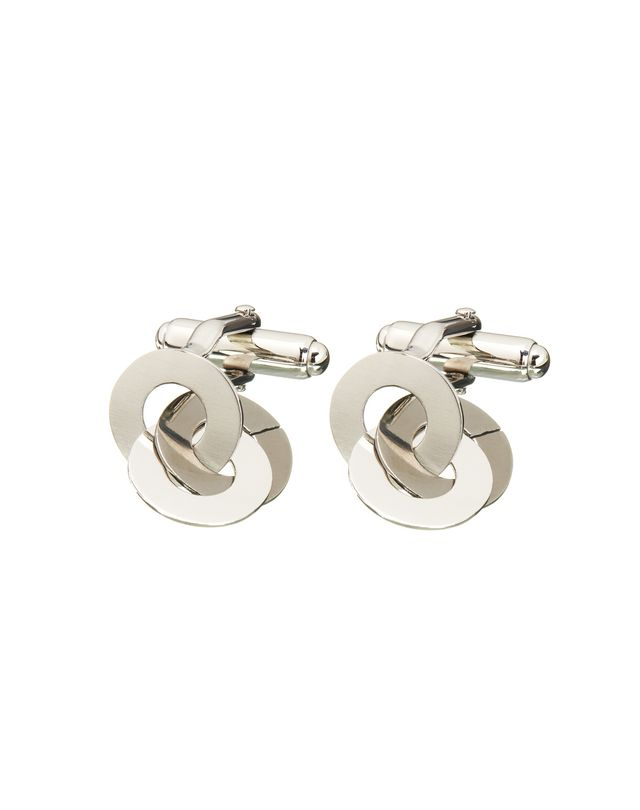 LANVIN CHAIN CUFF LINKS IN RHODIUM METAL Cufflinks U r